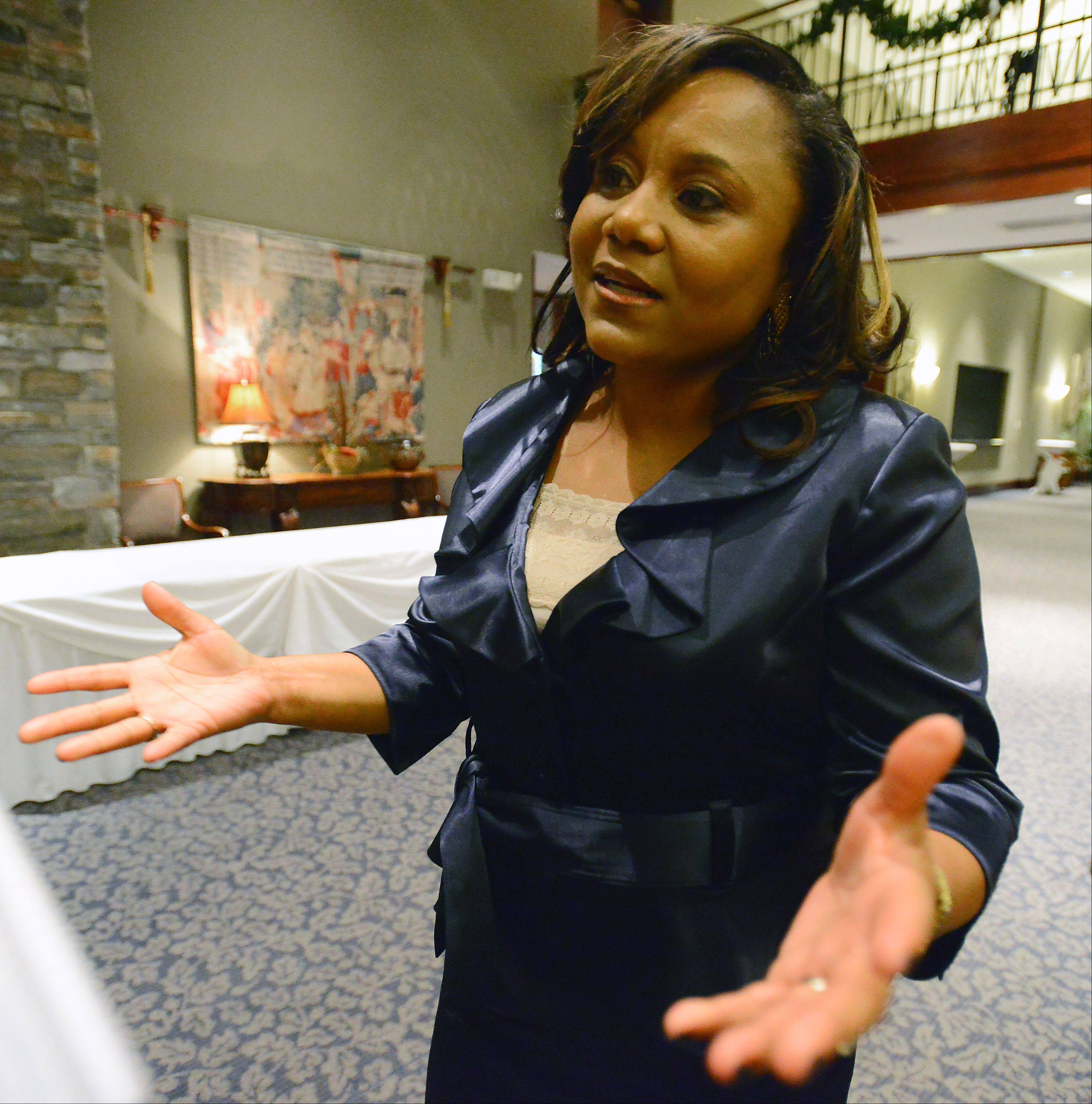 Toni Carter was honored Friday at the 12th annual Martin Luther King Jr. remembrance and celebration dinner in Hoffman Estates.