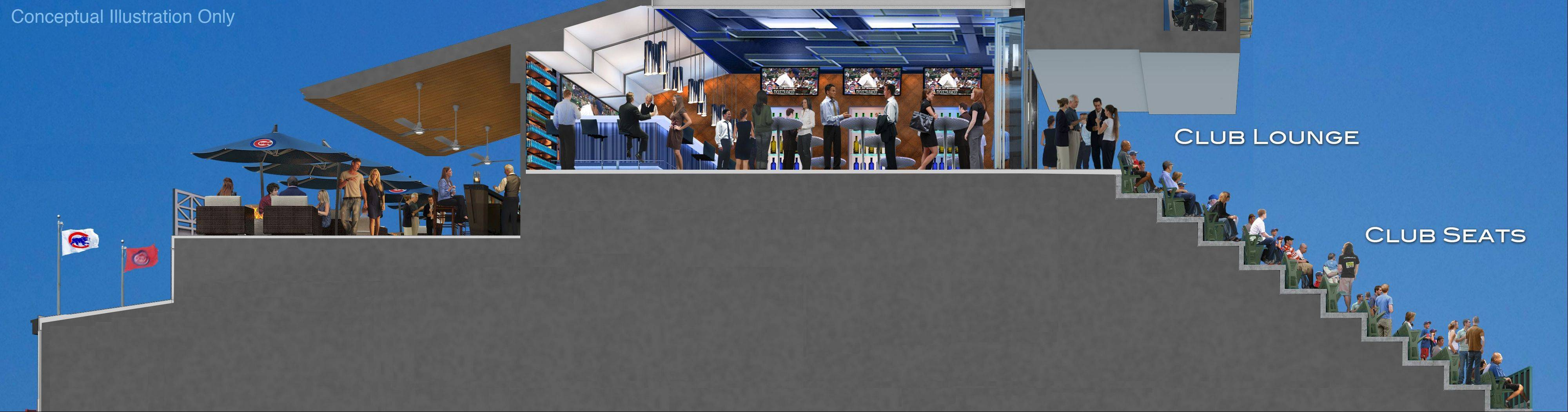 This is a view of the proposed club patio lounge.