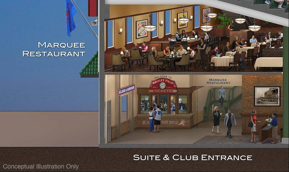 This is a view of a proposed marquee restaurant.