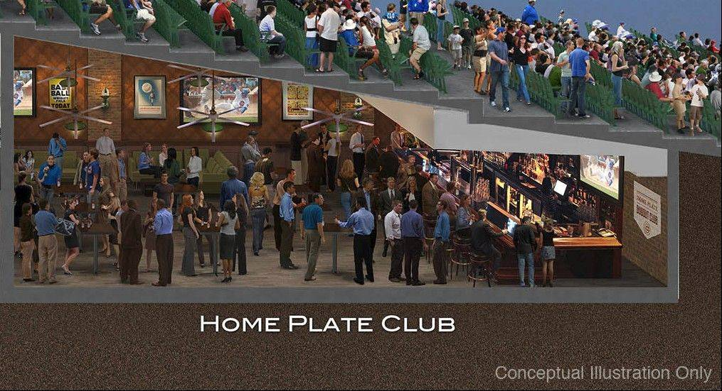 This is a view of the proposed home plate club area.