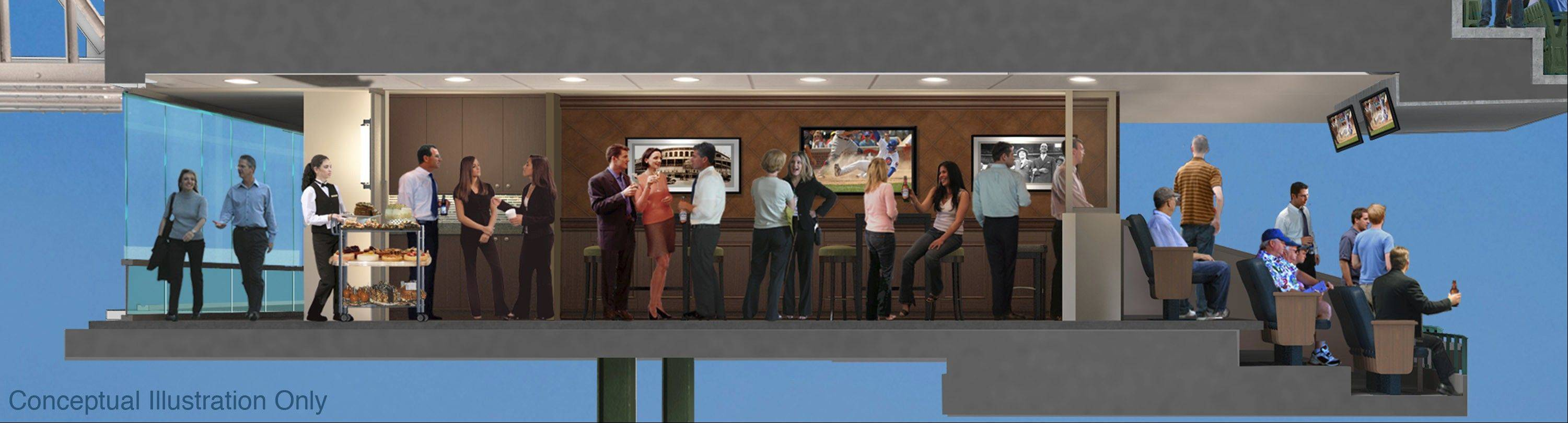 This is a view of the proposed expanded suite area.