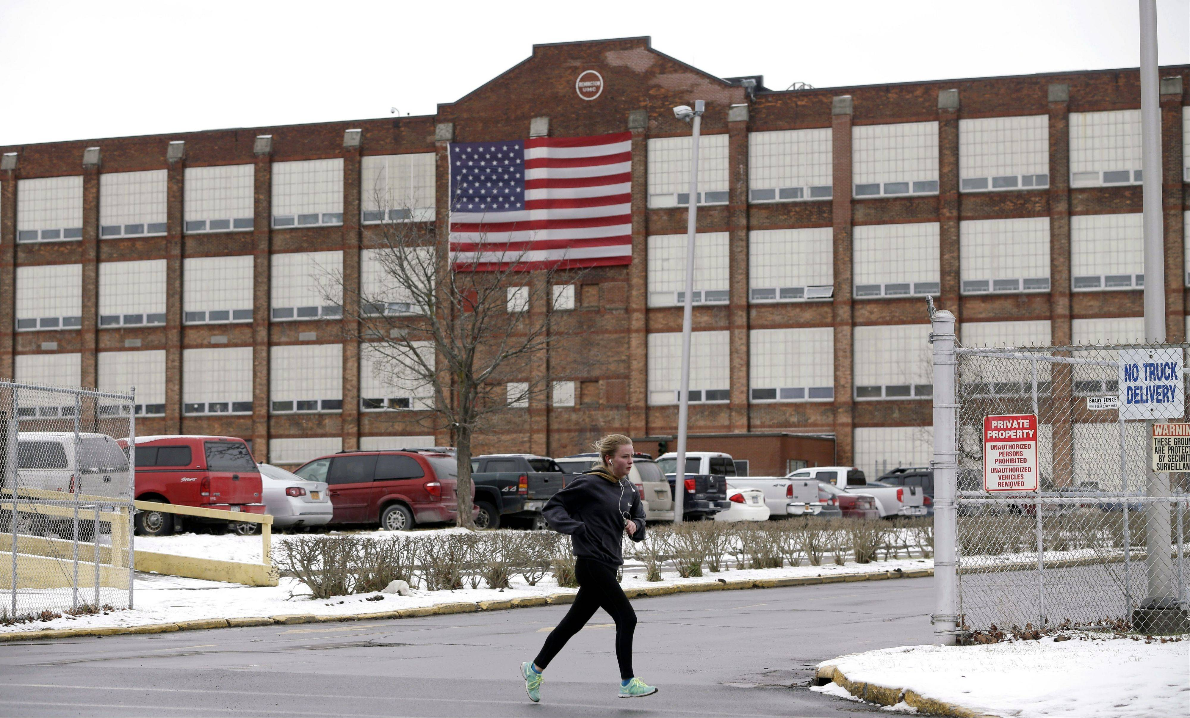 This is the Remington Arms Company in Ilion, N.Y., where residents of this blue-collar stretch of the Mohawk Valley are defending the gun maker after New York lawmakers banned the sale of semi-automatic assault-style rifles like the Bushmaster weapon made here.