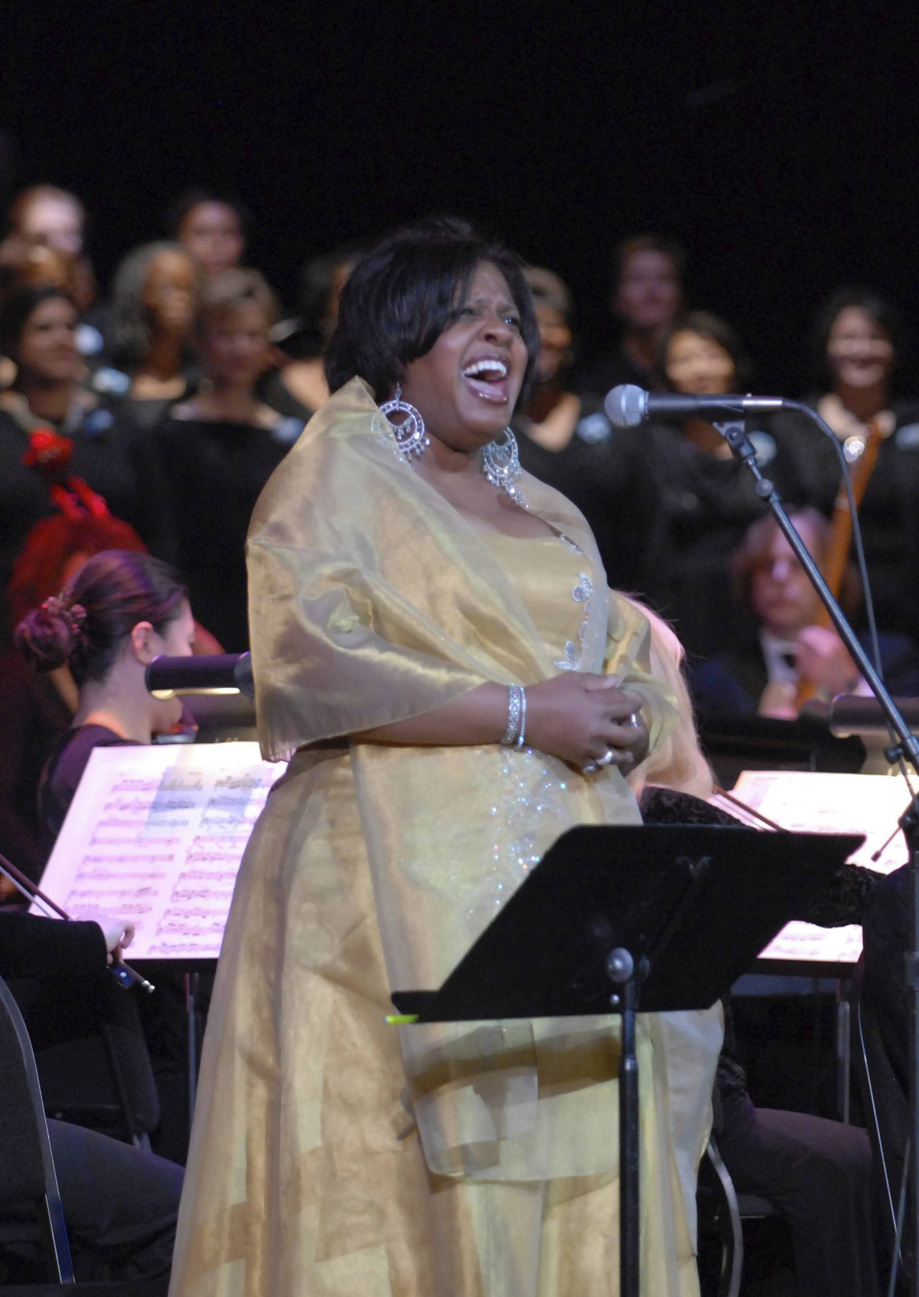 "Soprano Alfreda Burke is a soloist in ""Too Hot to Handel: The Jazz-Gospel Messiah"" at Chicago's Auditorium Theatre of Roosevelt University."