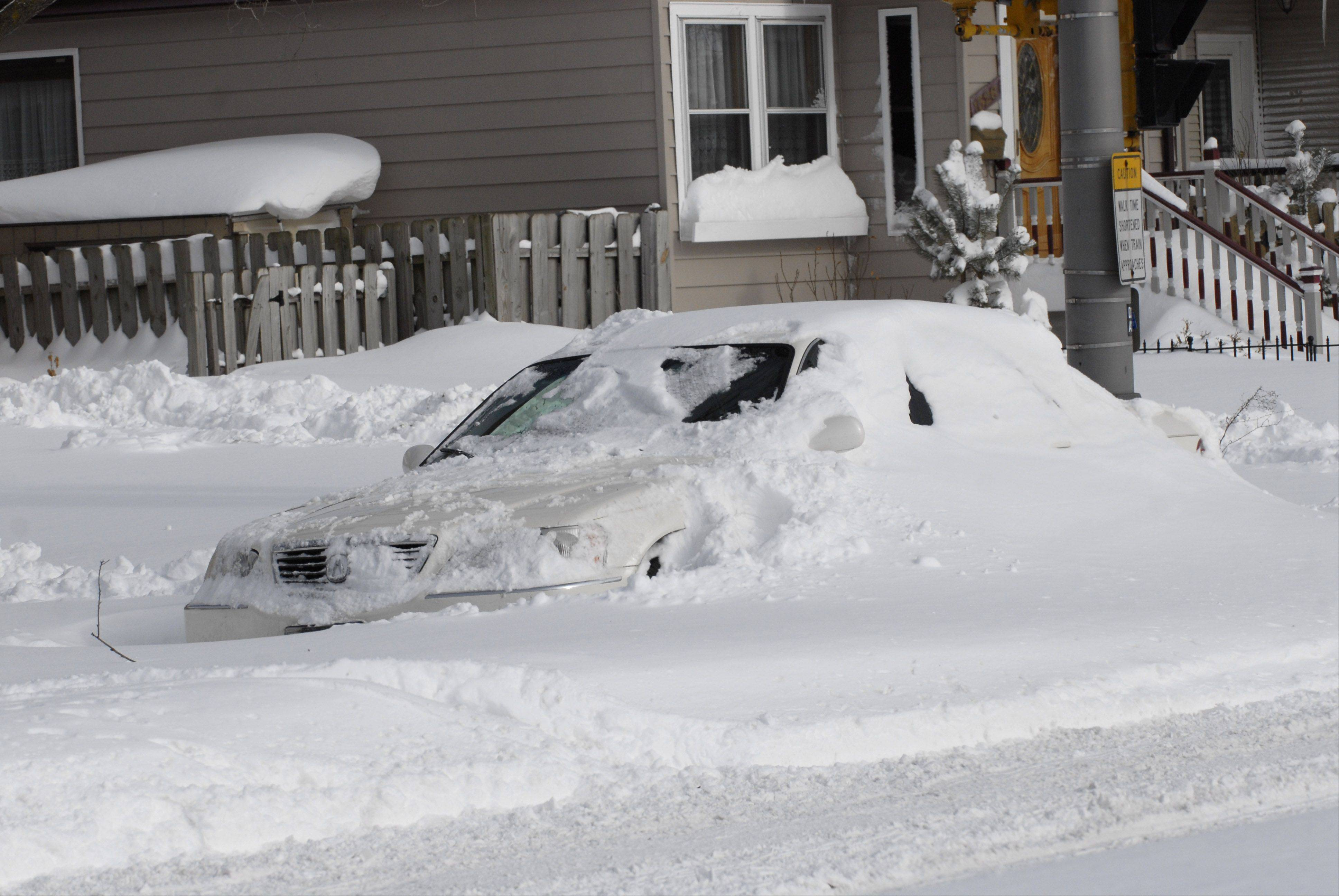 The single snowstorm that buried this car in Arlington Heights in 2011 dropped more snow in 24 hours than we've seen last winter and so far this winter combined.