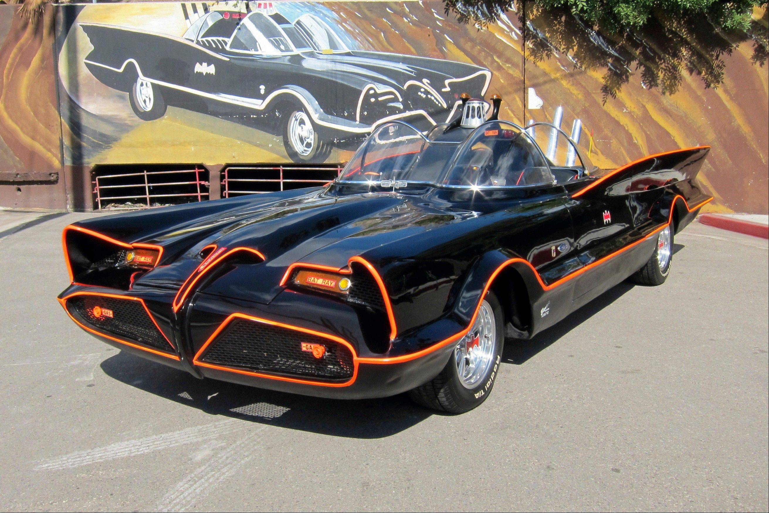 The original Batmobile in Los Angeles. Batman�s original ride, from the 1960s TV series, has sold at auction for $4.2 million.