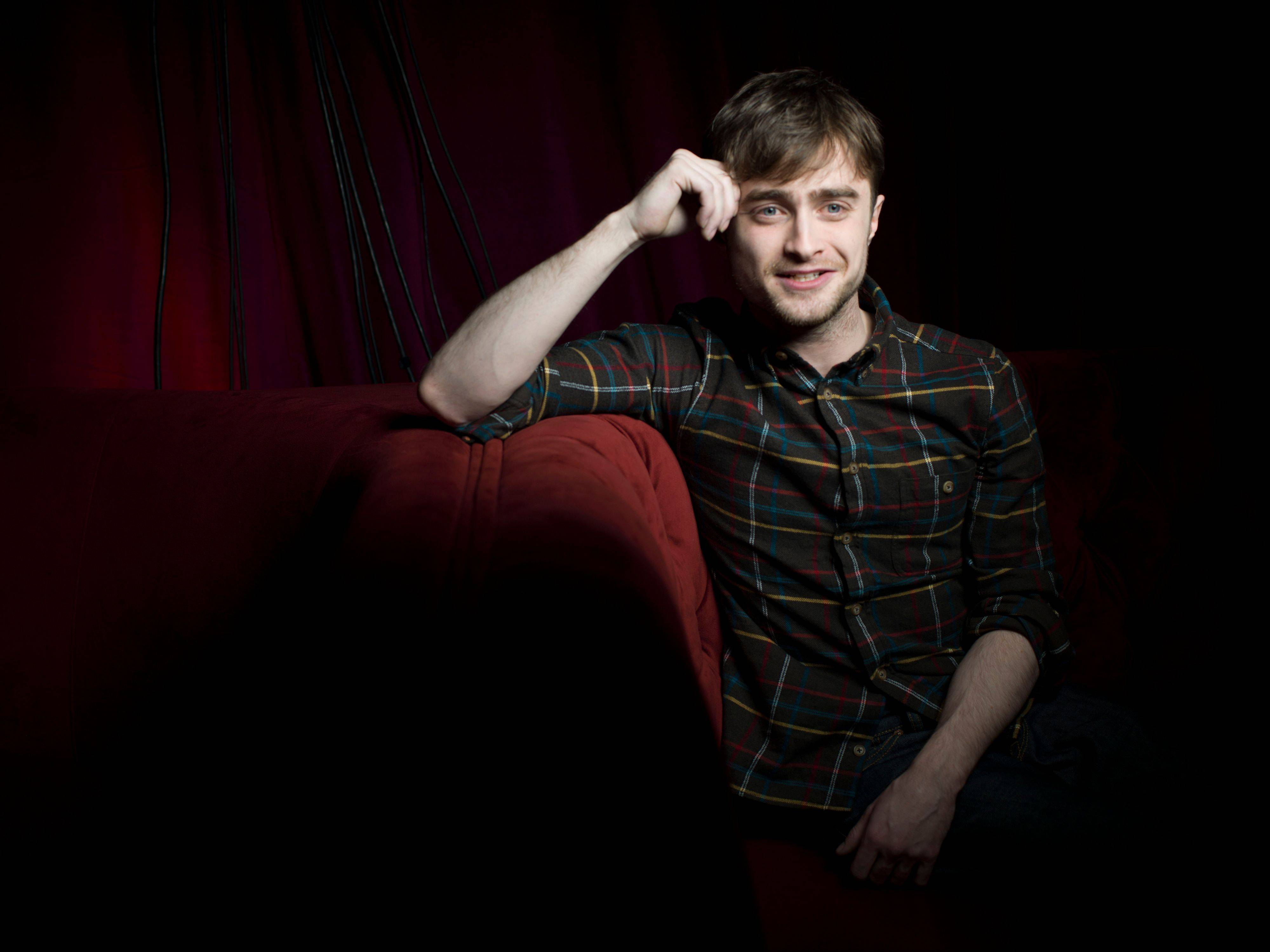 "Actor Daniel Radcliffe plays young gay poet Allen Ginsberg in the new film ""Kill Your Darlings."""