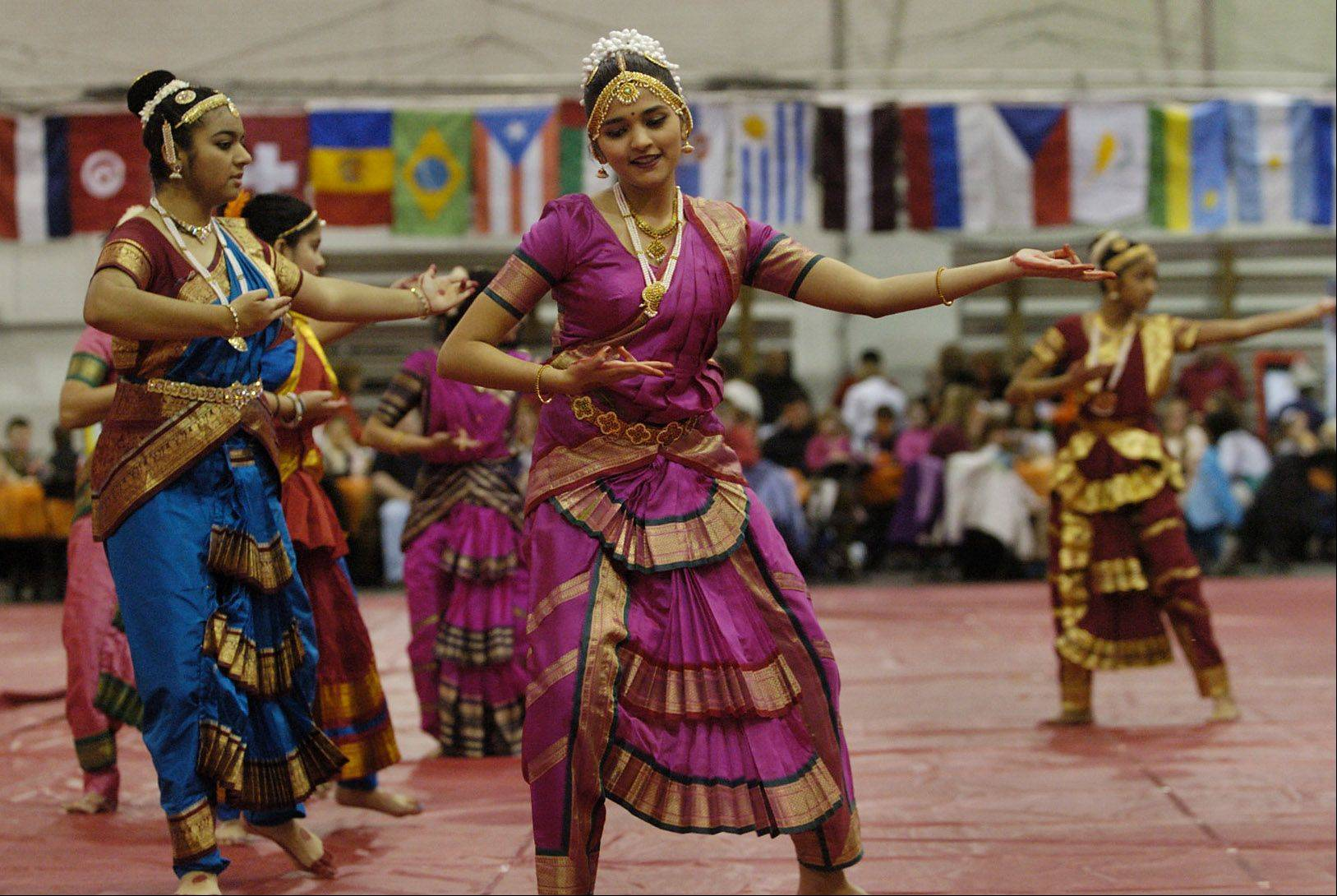 Performers from the Nartan Indian Academy of Dance in Naperville will be among the entertainers Sunday at North Central College's annual International Festival.
