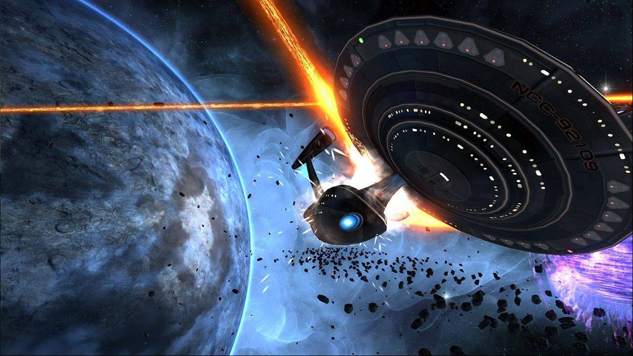Atari SA has filed for bankruptcy protection in Manhattan with the intention of separating from the unprofitable French parent and seeking independent funding. Above, the Atari game Star Trek Online is seen.