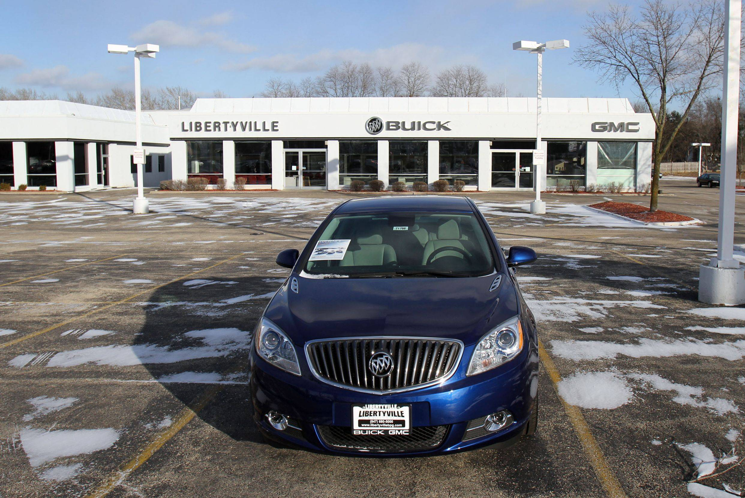 The Libertyville Buick GMC dealer closed suddenly, and village officials are trying to find out what will be next for the property at 1120 S. Milwaukee Ave. Auto dealerships contribute more than half the village's annual sales tax.
