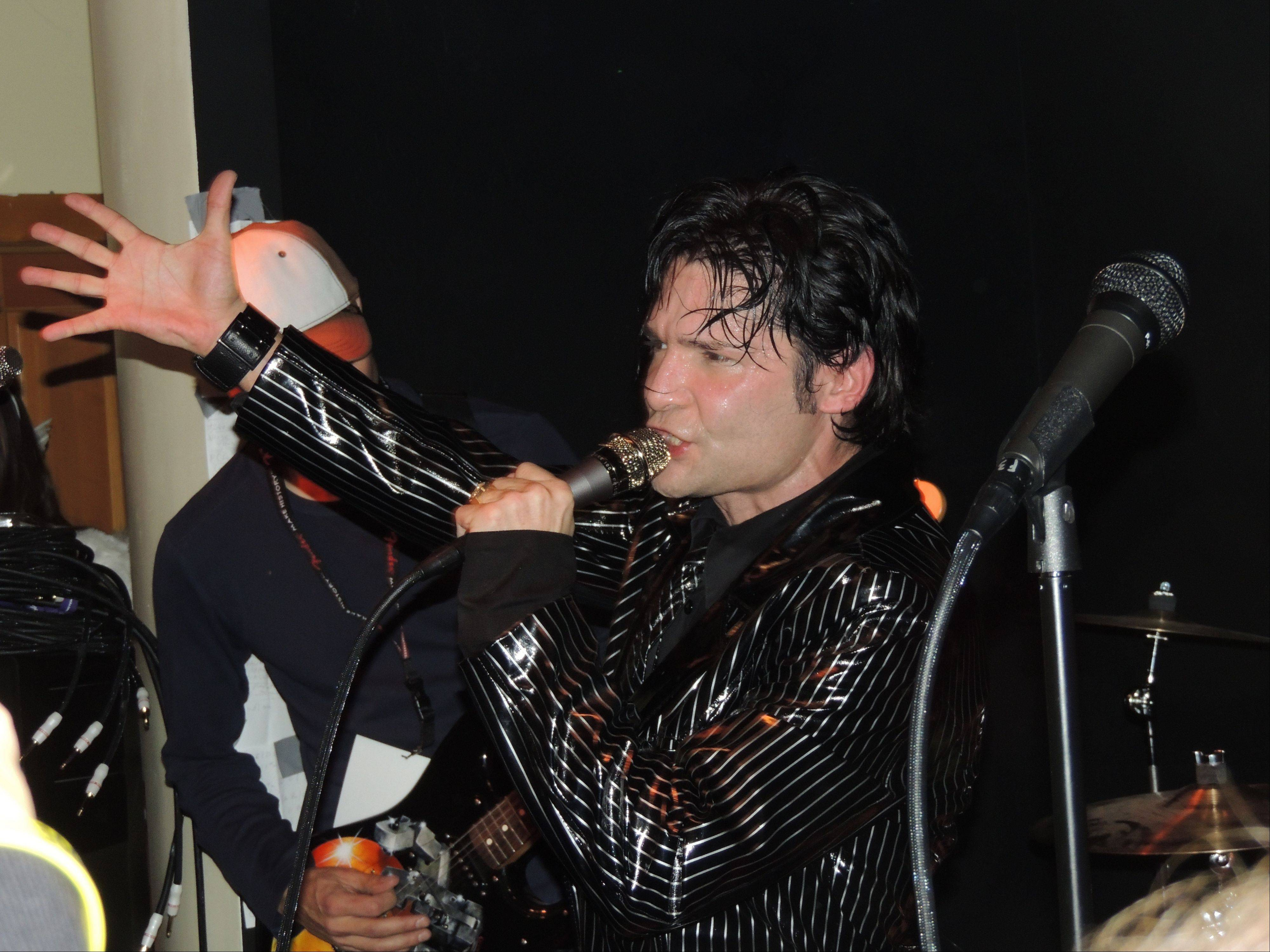 Corey Feldman performs Saturday at the Fender Music Lounge in Park City, Utah.