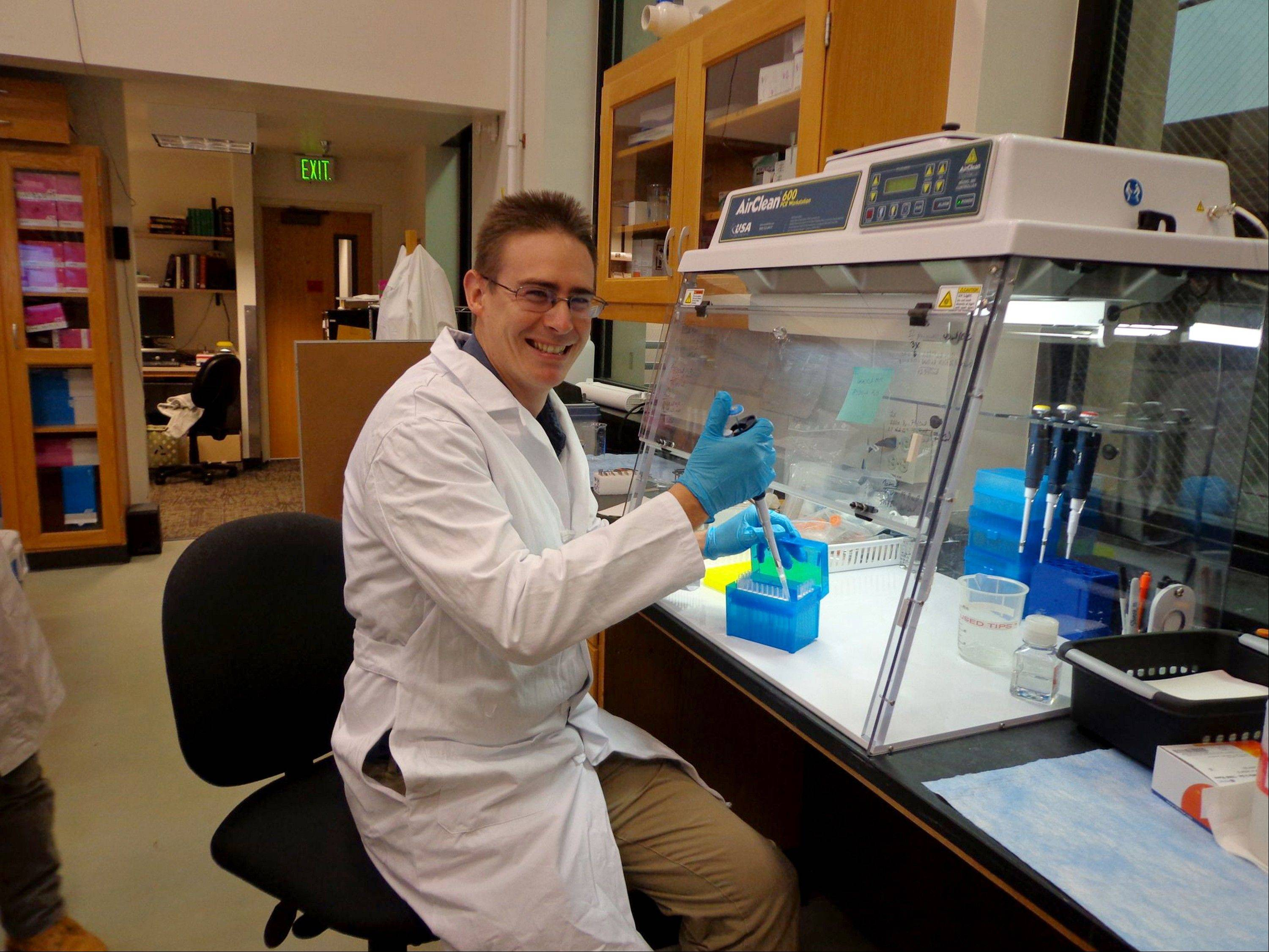 Scientist Rob Knight in his lab at the University of Colorado, Boulder, is leading the American Gut Project.