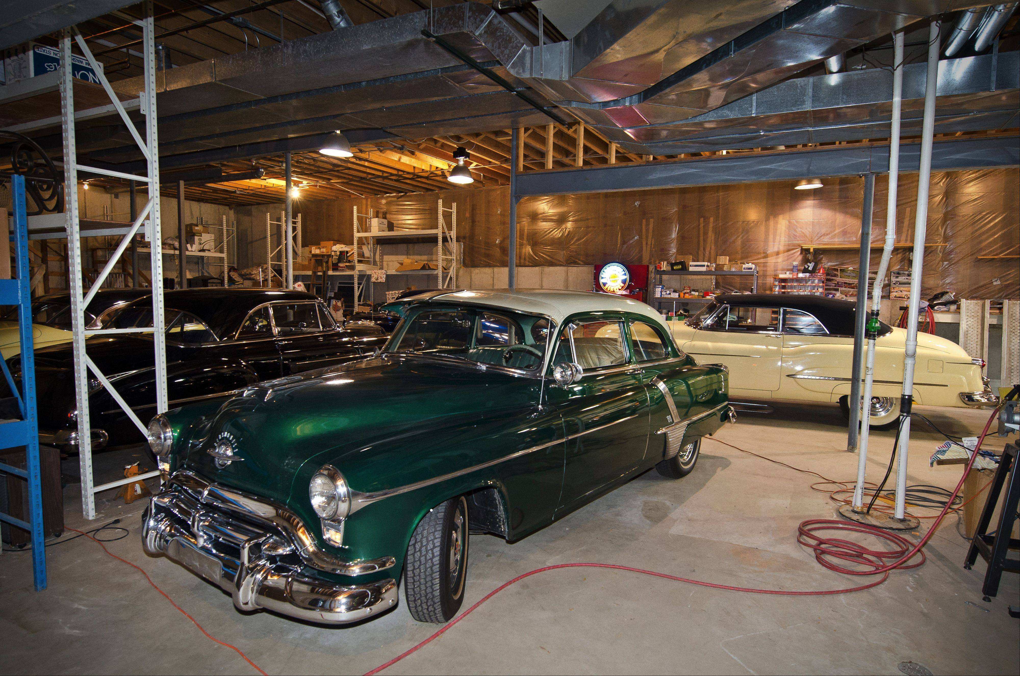 This Alder Green 1952 Olds is like one Albrecht's brother owned, and which Albrecht drove when he was learning to drive.