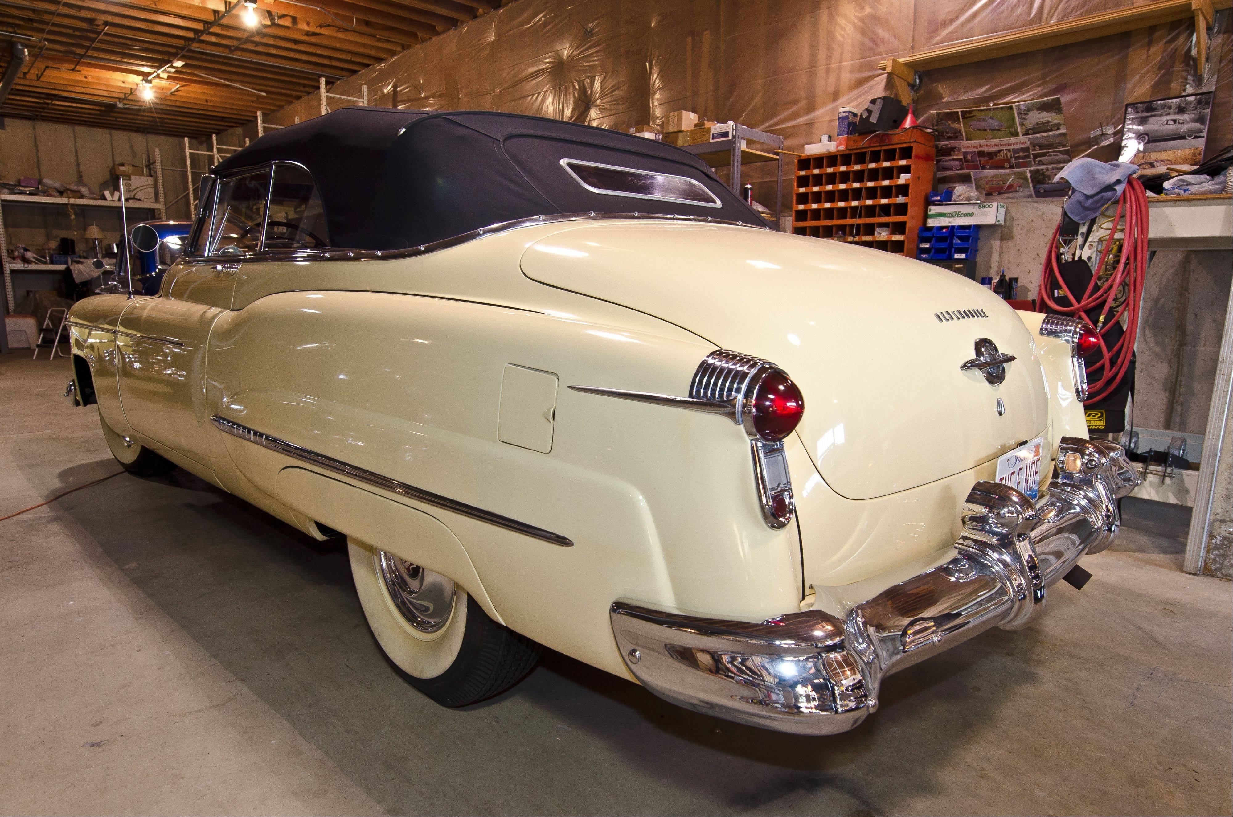 A 1950 98 convertible came from Fond du Lac, Wis., and was the top of the line model for the year.