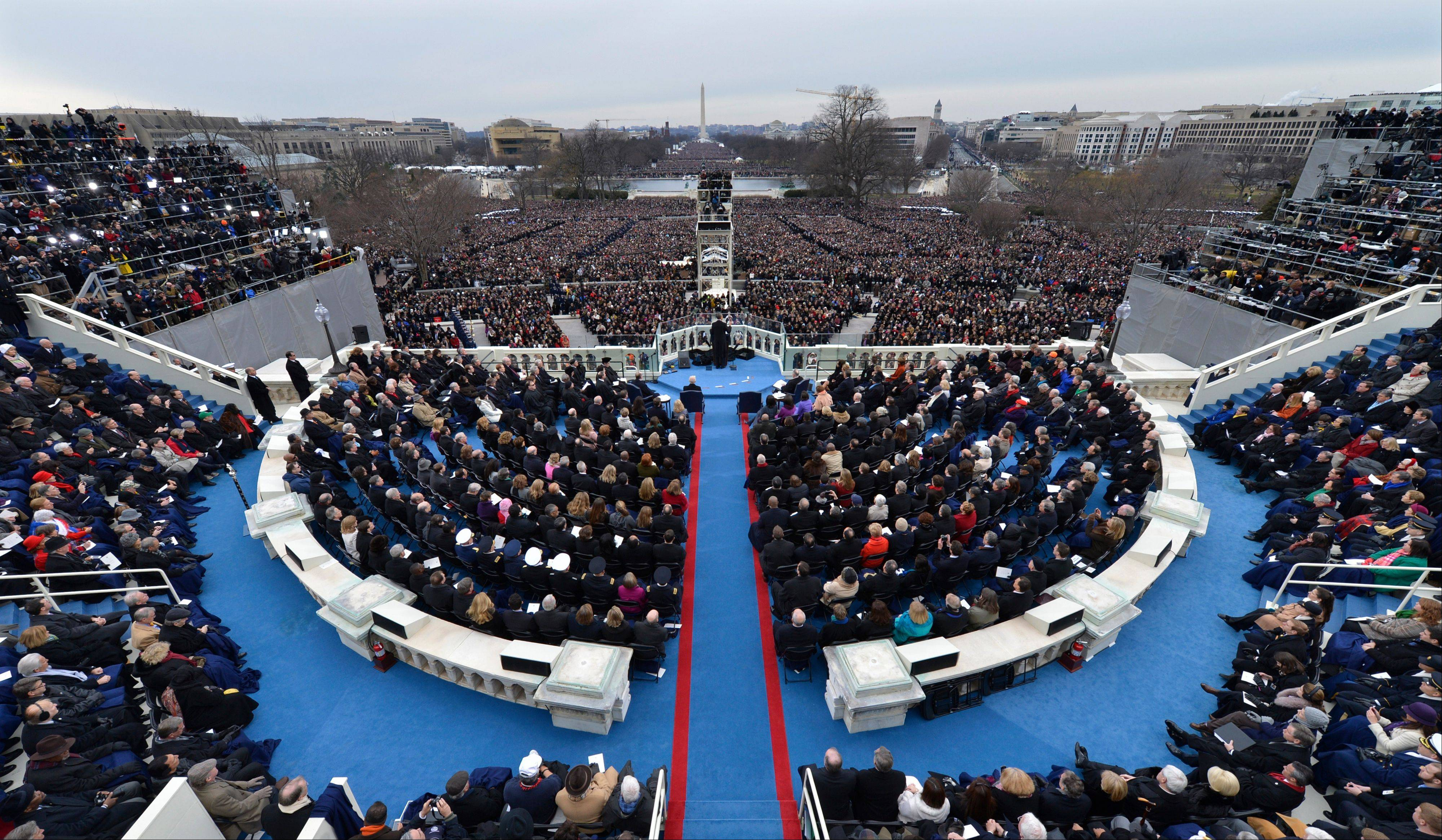 President Barack Obama speaks at the ceremonial swearing-in at the U.S. Capitol during the 57th Presidential Inauguration in Washington, Monday, Jan. 21, 2013.