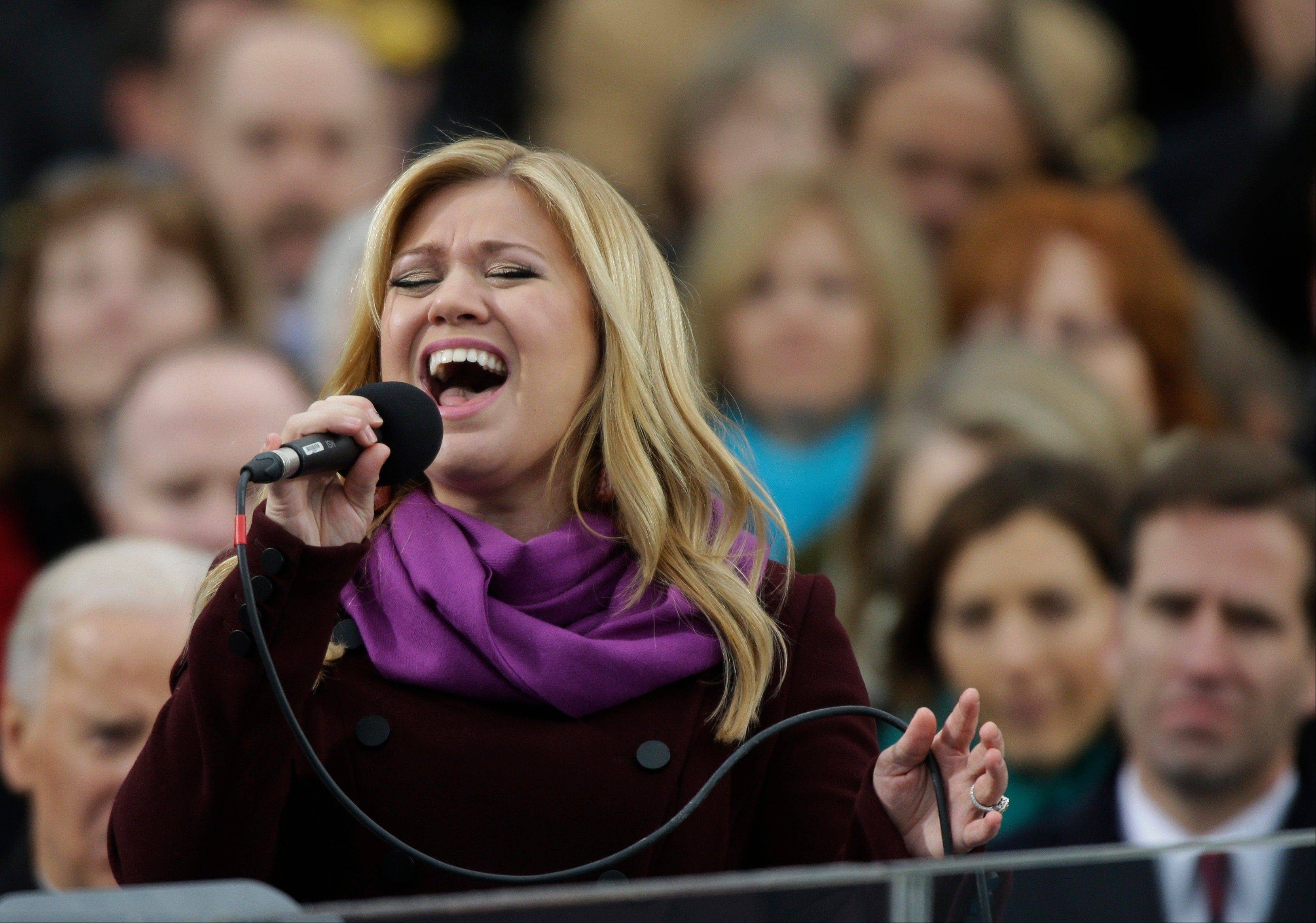 Singer Kelly Clarkson performs at the ceremonial swearing-in for President Barack Obama at the U.S. Capitol during the 57th Presidential Inauguration in Washington, Monday, Jan. 21, 2013.