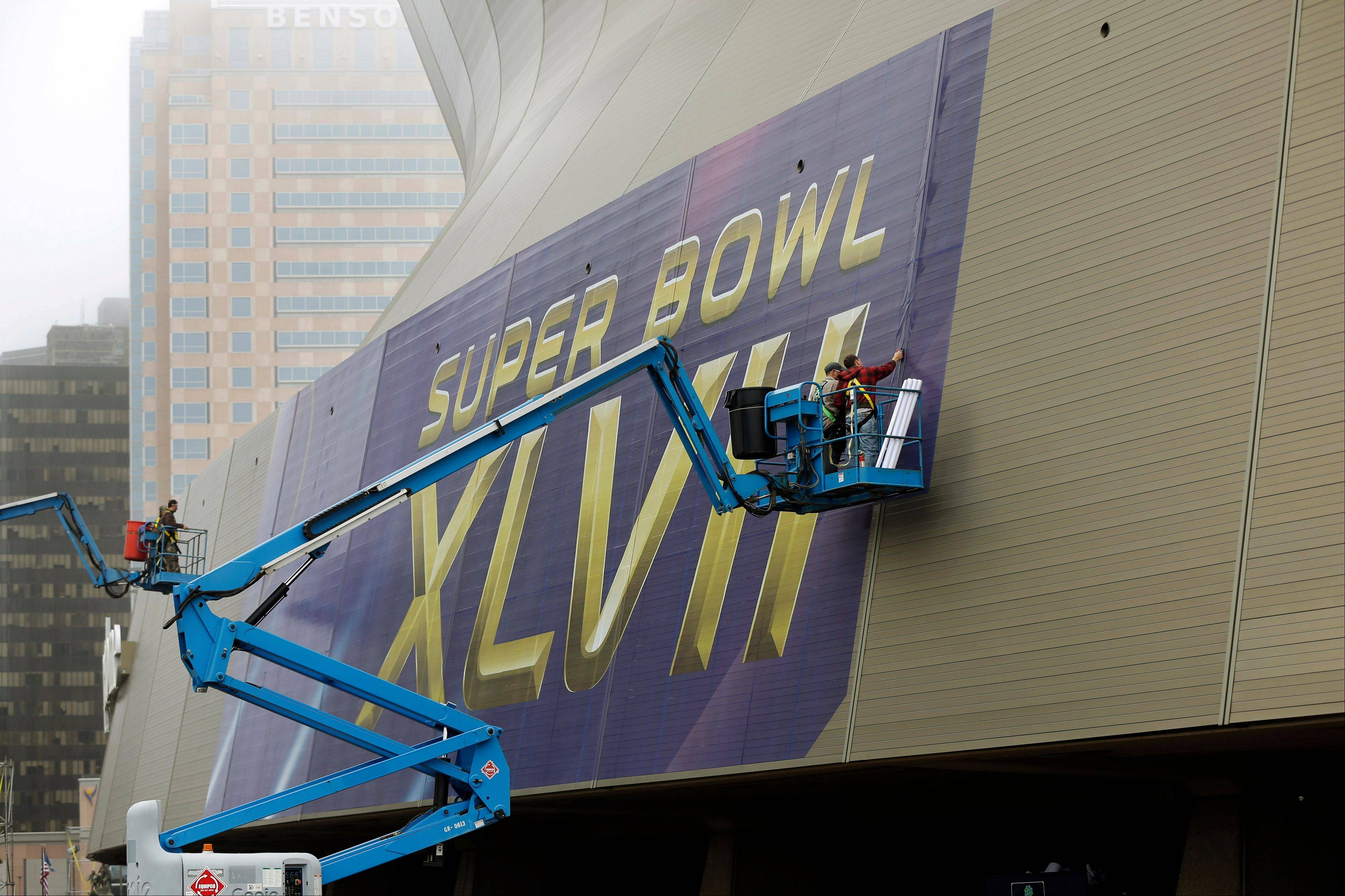 The Superdome in New Orleans will host Super Bowl XLVII on Feb. 3 with the Baltimore Ravens playing the San Francisco 49ers.