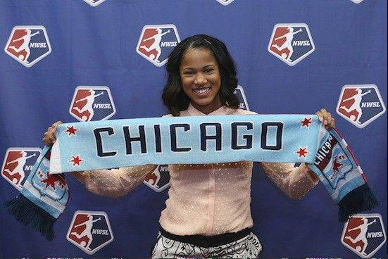 Photo courtesy of Chicago Red Stars/Andy Mead/isiphotos.comThe Chicago Red Stars selected speedy forward Zakiya Bywaters of UCLA with the No. 1 overall pick in the National Women's Soccer League collegiate draft. The Red Stars also selected two players with suburban connections.