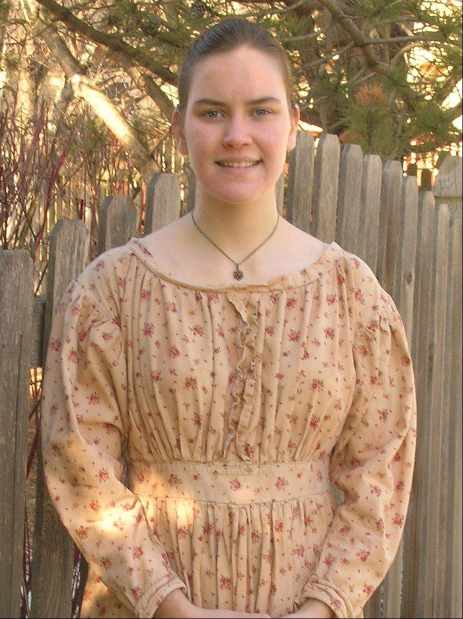 Brooke Kottkamp, recipient of the Copenhagen Schoolhouse Scholarship, has volunteered at Naper Settlement for seven years.
