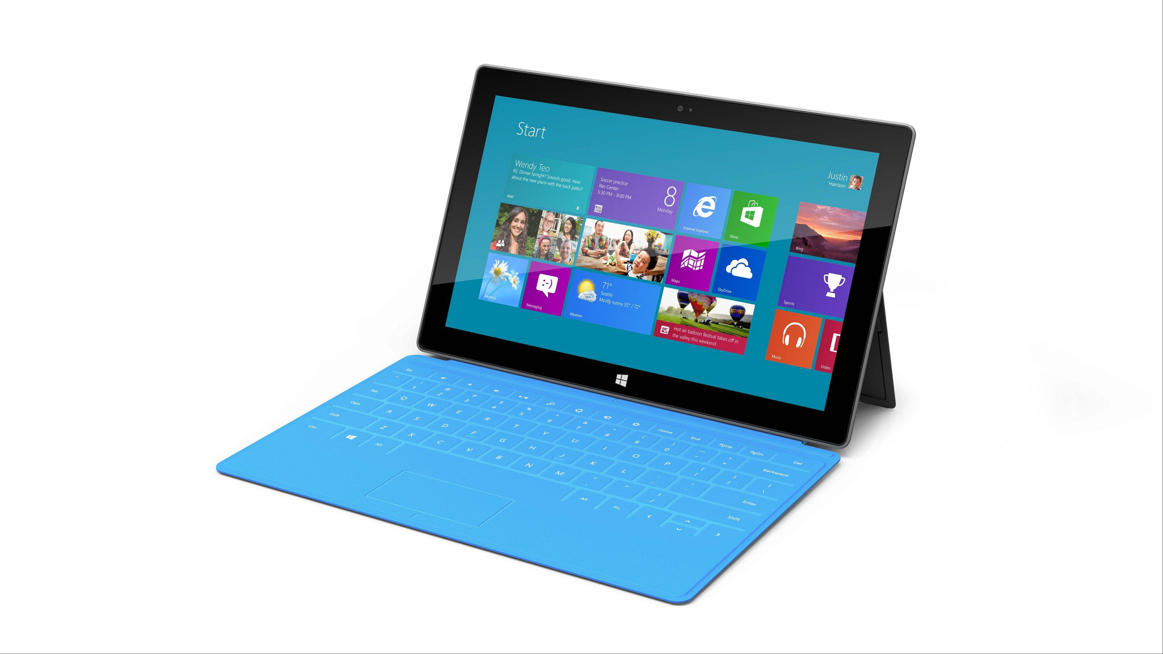 Microsoft Corp., the world�s largest software maker, said its Surface tablet computer running the new Windows 8 Pro software will be available Feb. 9, the first versions of the machine powered by Intel Corp. chips.