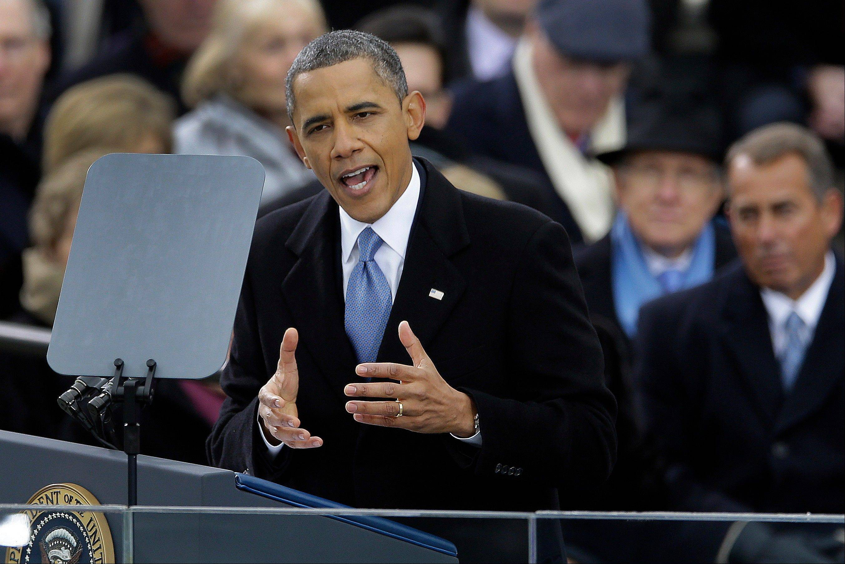 President Barack Obama devoted one word during his inaugural address � �deficit� � to the issue that brought Washington to the brink of fiscal crises time and again during his first term.