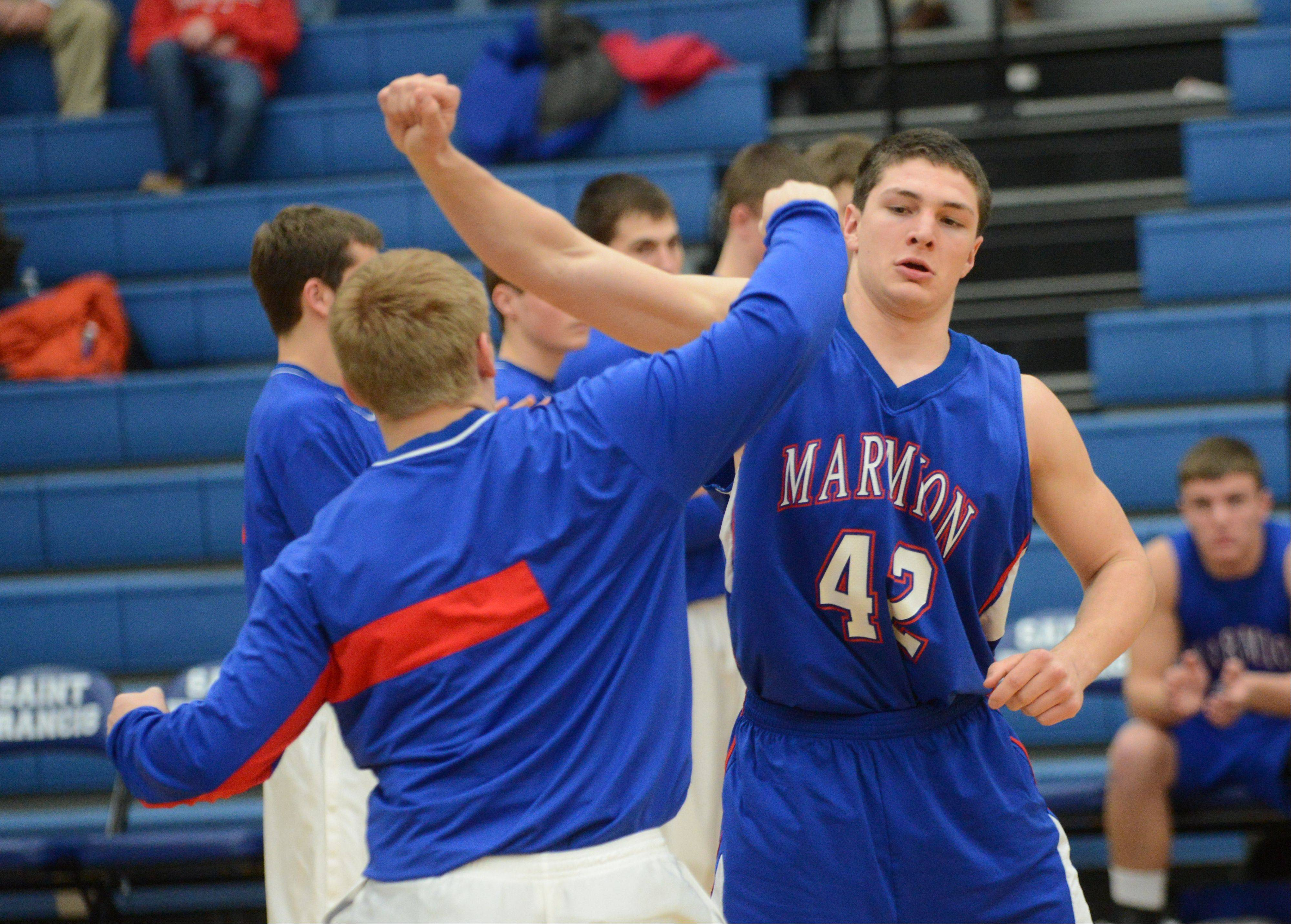 St. Francis High School hosted Marmion Academy Tuesday night for boys basketball.