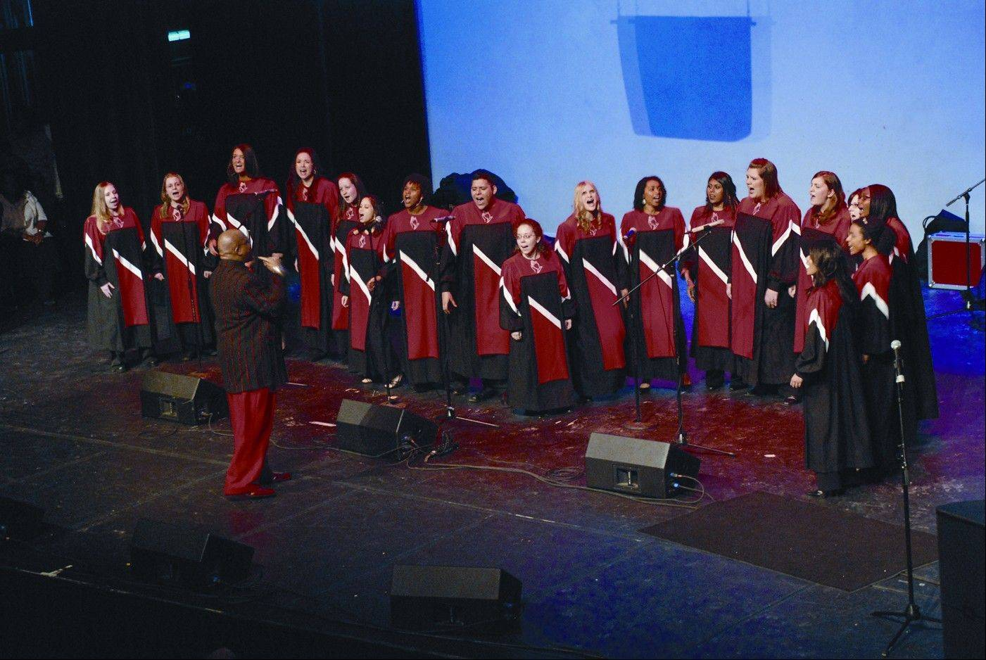The Voices of Praise Choir is featured as part of the 25th anniversary of North Central College's Gospel Extravaganza in Naperville.