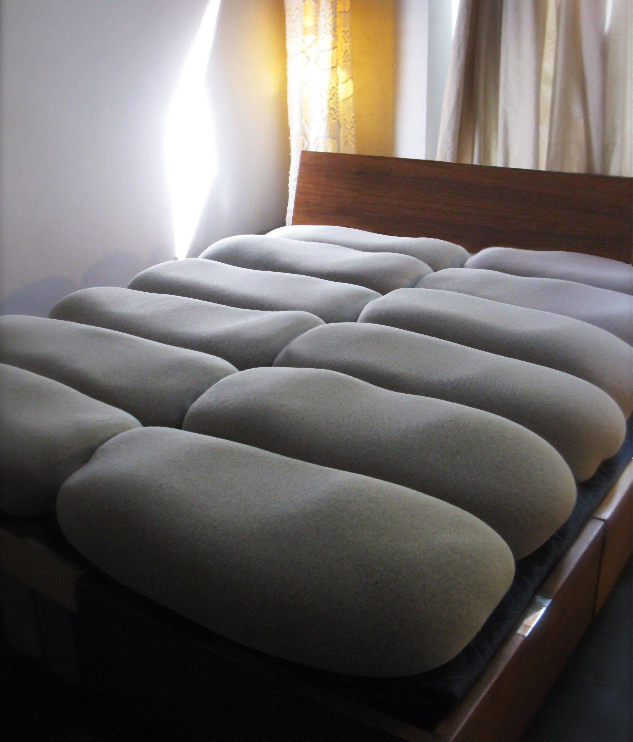Former interior designer Lynn Cimino's creation of the Twist mattress -- components include cotton covers and buckwheat hulls that you self-assemble by filling the covers with the hulls and twisting and tying (openyoureyesbedding.com). Fully customizable, the mattresses are similar to Japanese futons.