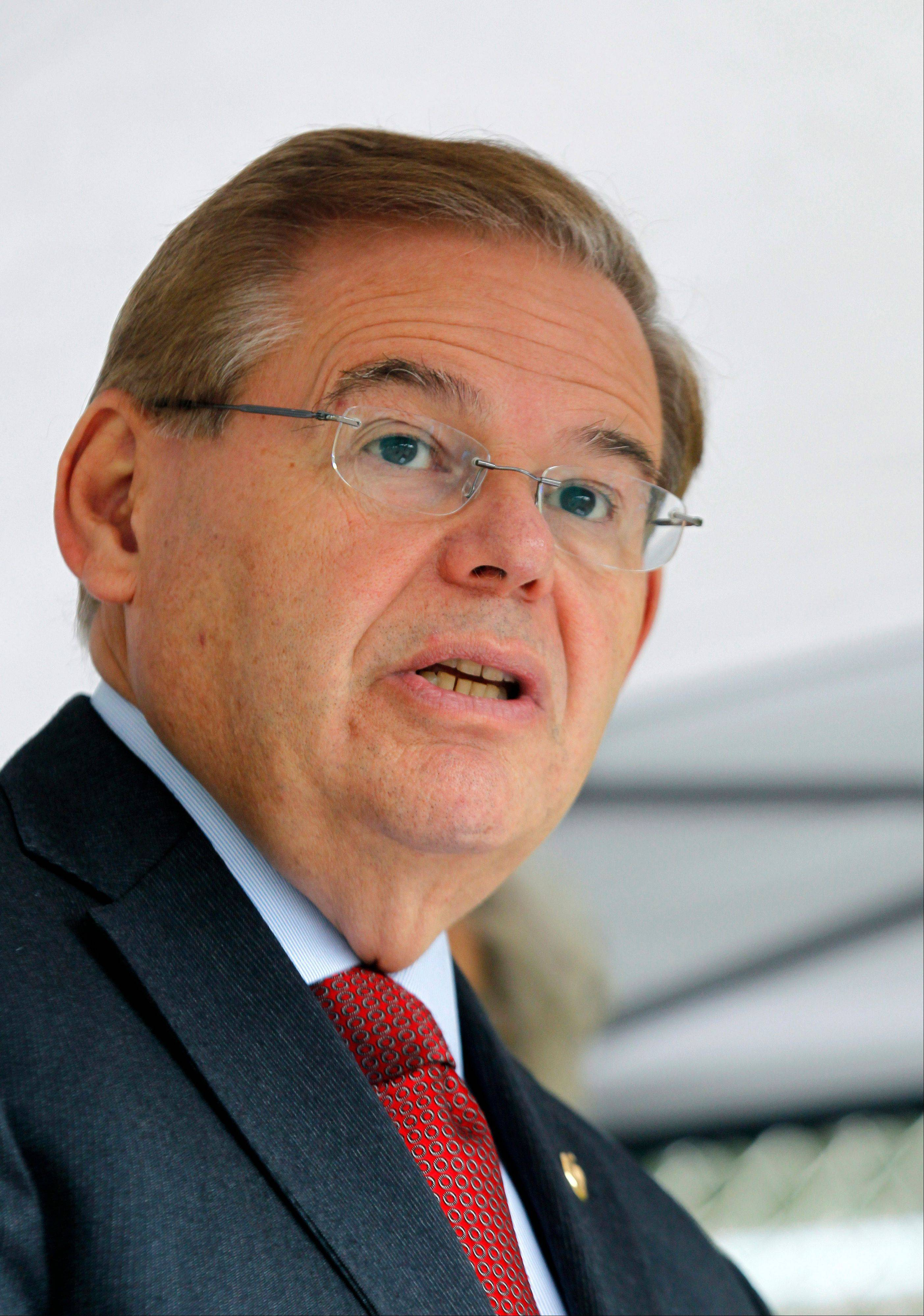 Sen. Robert Menendez, D-N.J. A harrowing nighttime flight over the African jungle and a wild search for a rebel leader helped forge a relationship between Menendez and Republican Rep. Ed Royce, two men standing at the forefront of Congress' changing guard on foreign policy.