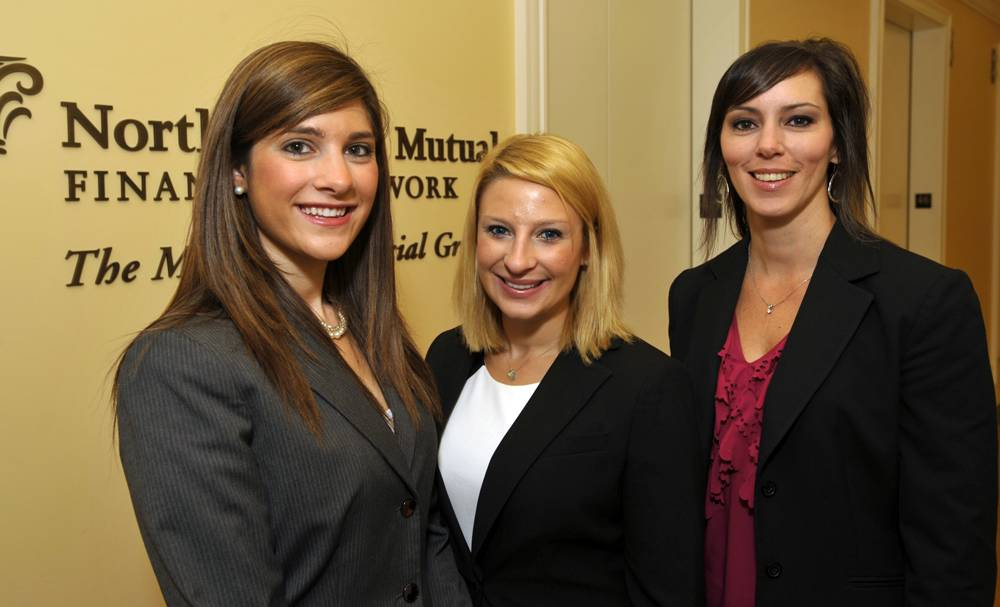 The McTigue Financial Group Internship Team (left to right) of Jeannie Andresen, campus recruiter, Carly Vadnais, campus recruiter, and Theresa Taylor, director of internship development plan to offer students an opportunity to test drive a financial services career in 2013.
