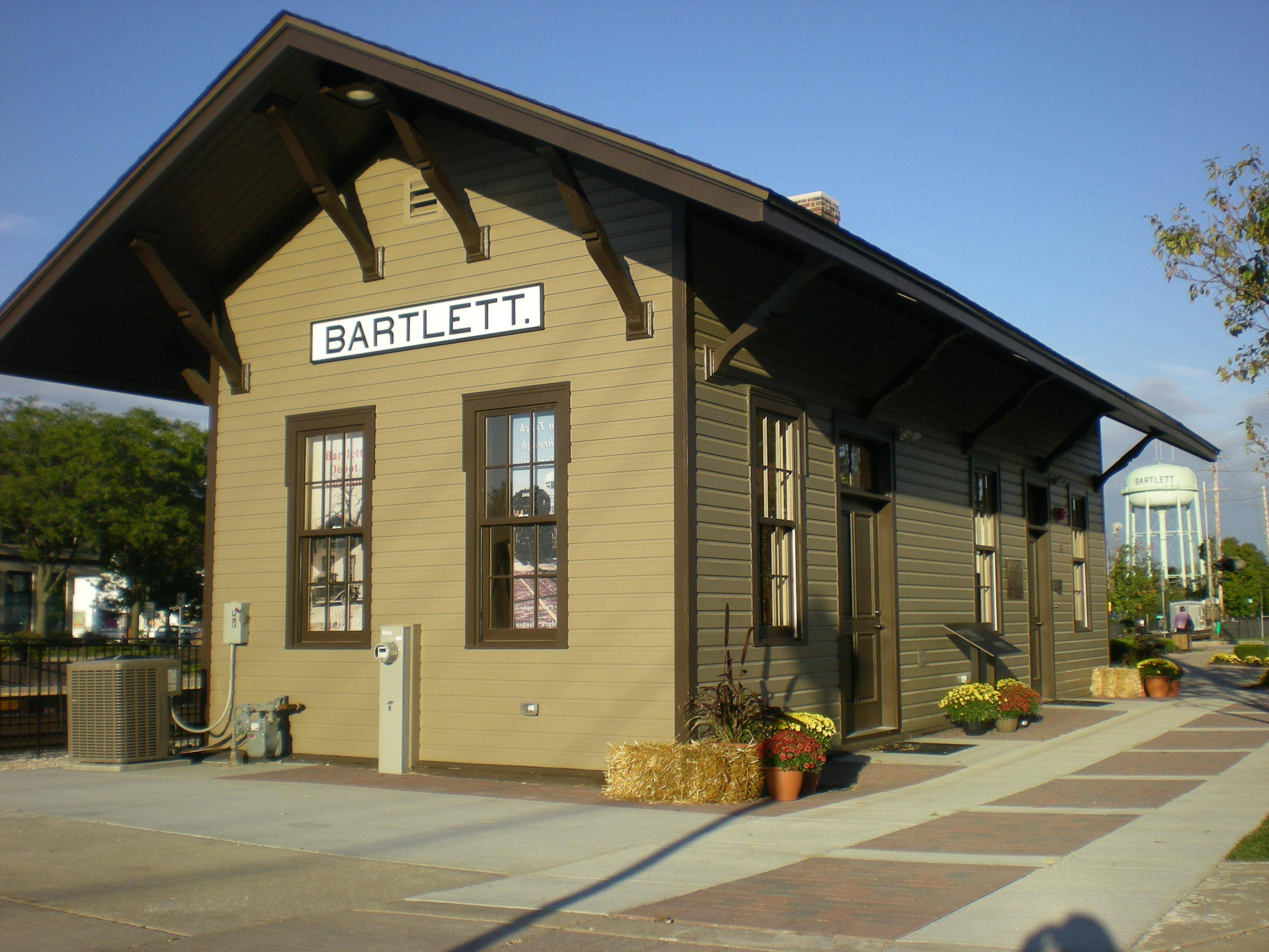 Bartlett Depot Museum is located in the Village's original 1873 railroad station.