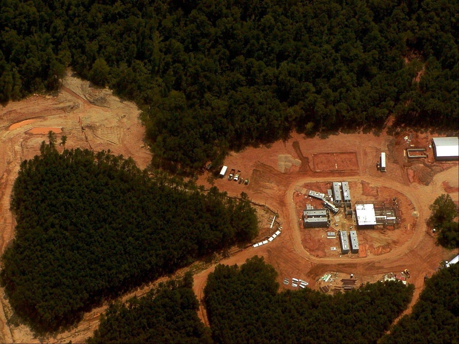 A 2004 aerial file photo of the 200-acre site in Caddo Parish near Shreveport, La., that is home to Chimp Haven. Government scientists have agreed that all but 50 of hundreds of chimpanzees kept for federally funded research should be retired from labs and sent to the national sanctuary.
