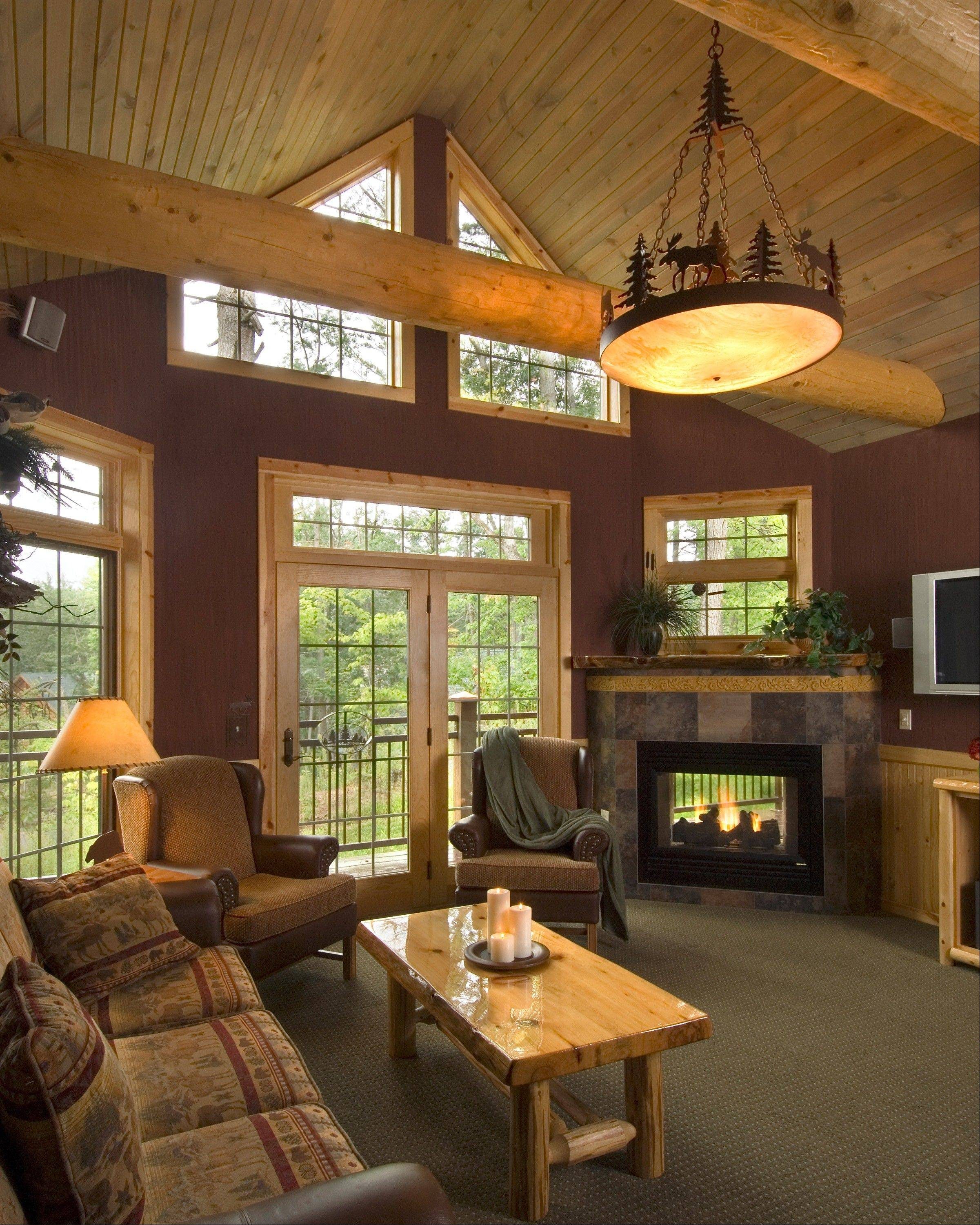 Wilderness Cabins, a part of the Wilderness Territory in Wisconsin Dells, Wis., features 35 cabins that are more than 3,000 square feet big with four or five bedrooms, depending on style.