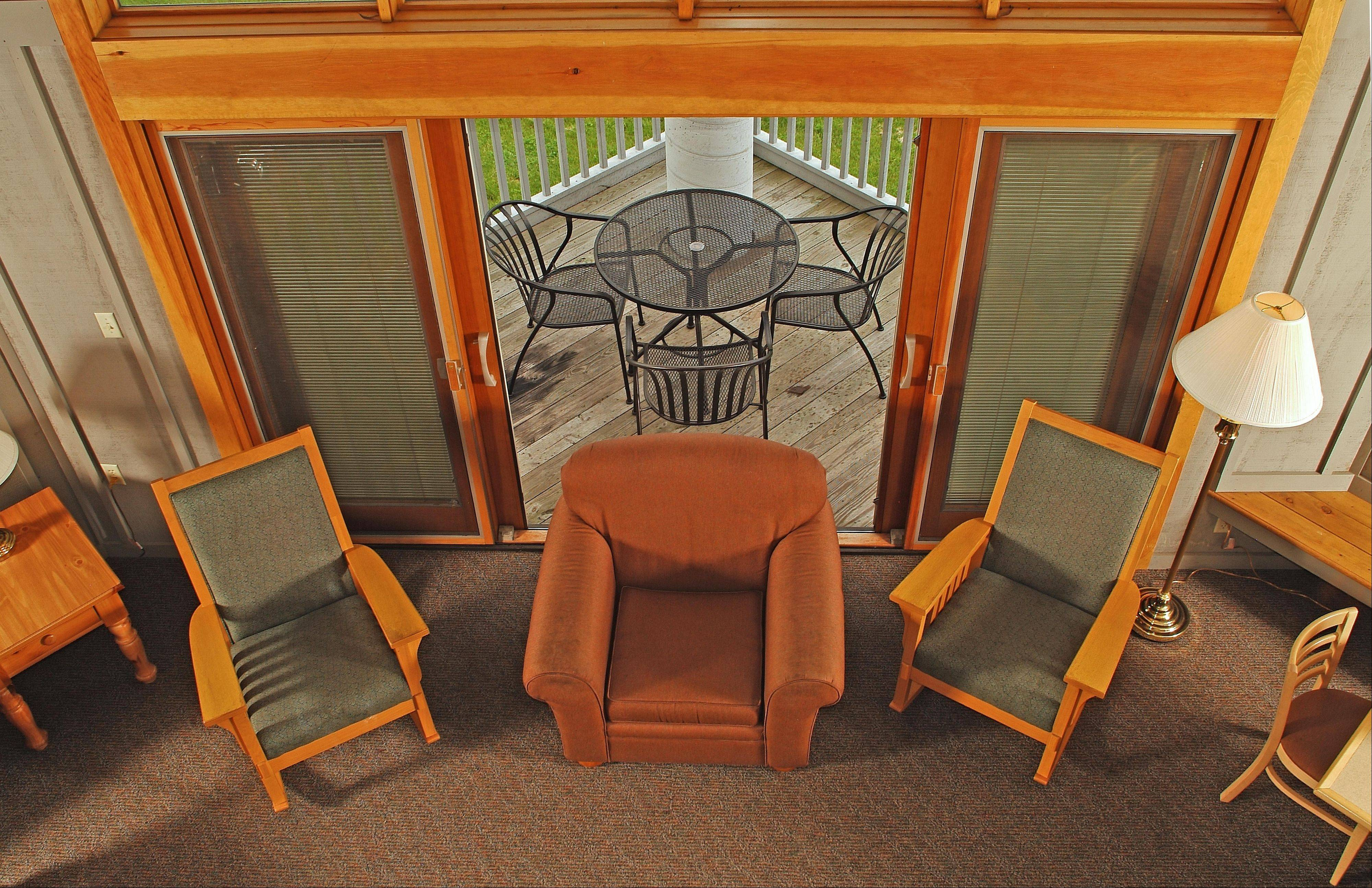 Maumee Bay State Park Lodge in Ohio offers four-bedroom and two-bedroom cabins.