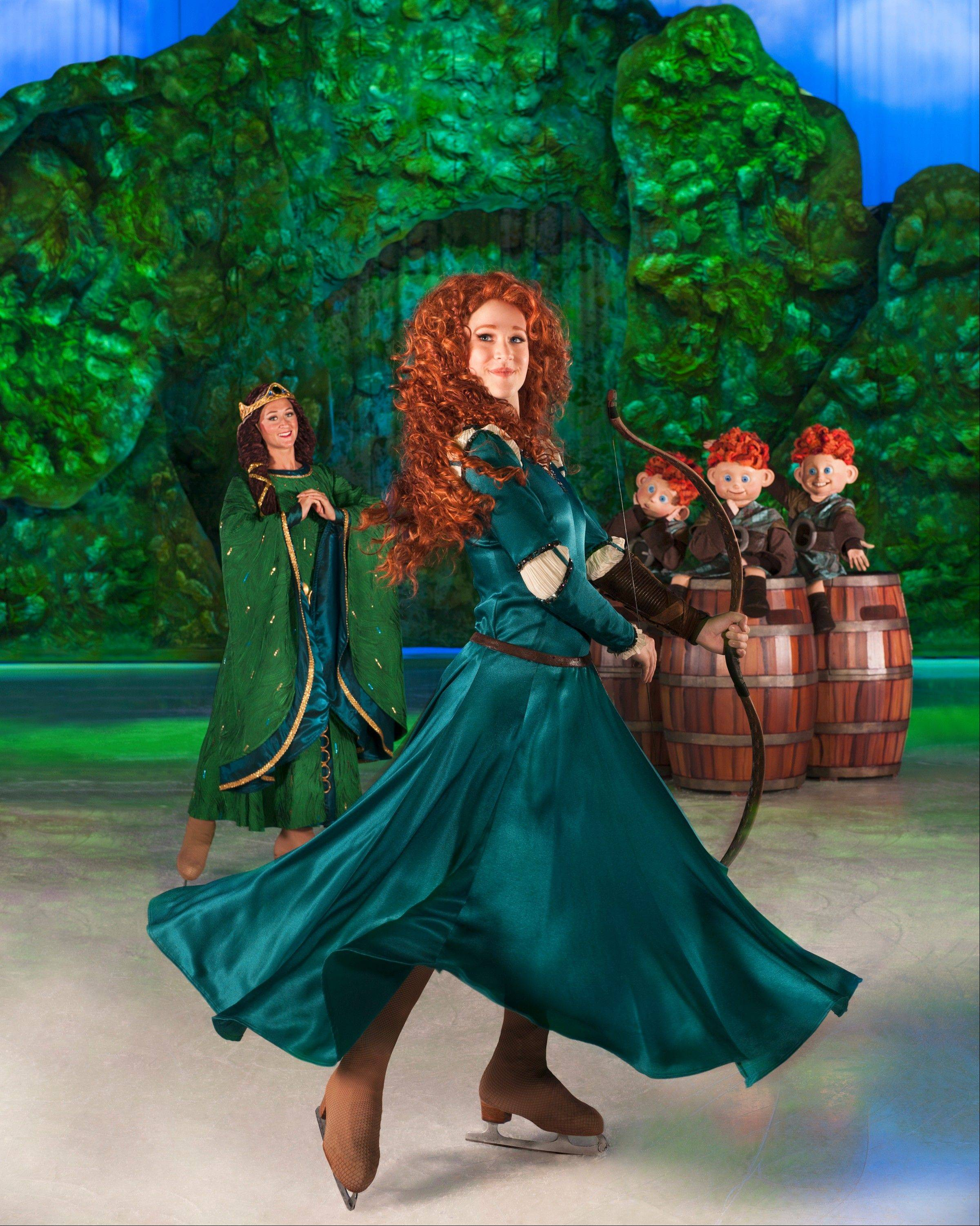 "Characters from the PIXAR film ""Brave"" join the cast of Disney On Ice's ""Rockin' Ever After,"" which is set to play the Allstate Arena in Rosemont and the United Center in Chicago."