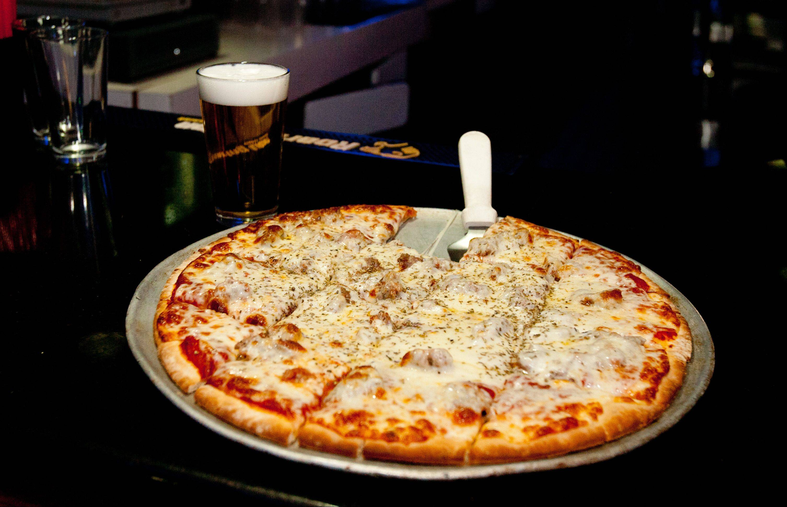 Pizza is one of the menu options at Club Shotz in Carol Stream.