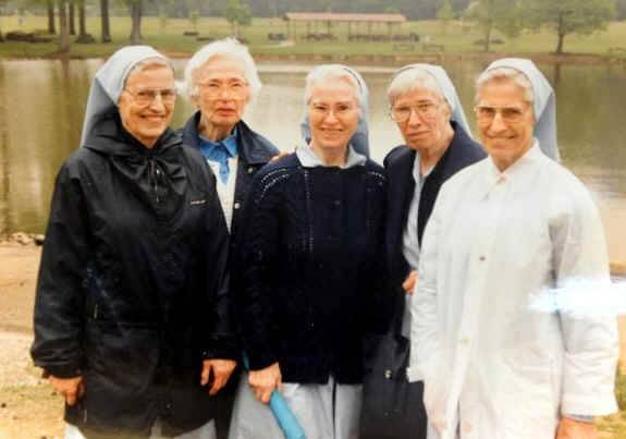 Copied photo from 1992 show from left  sisters Elaine, Mary Cecelia, Zoe, Jean Marie and Madeline. Elaine and Jean Marie just recently died within 24 hours of each other.