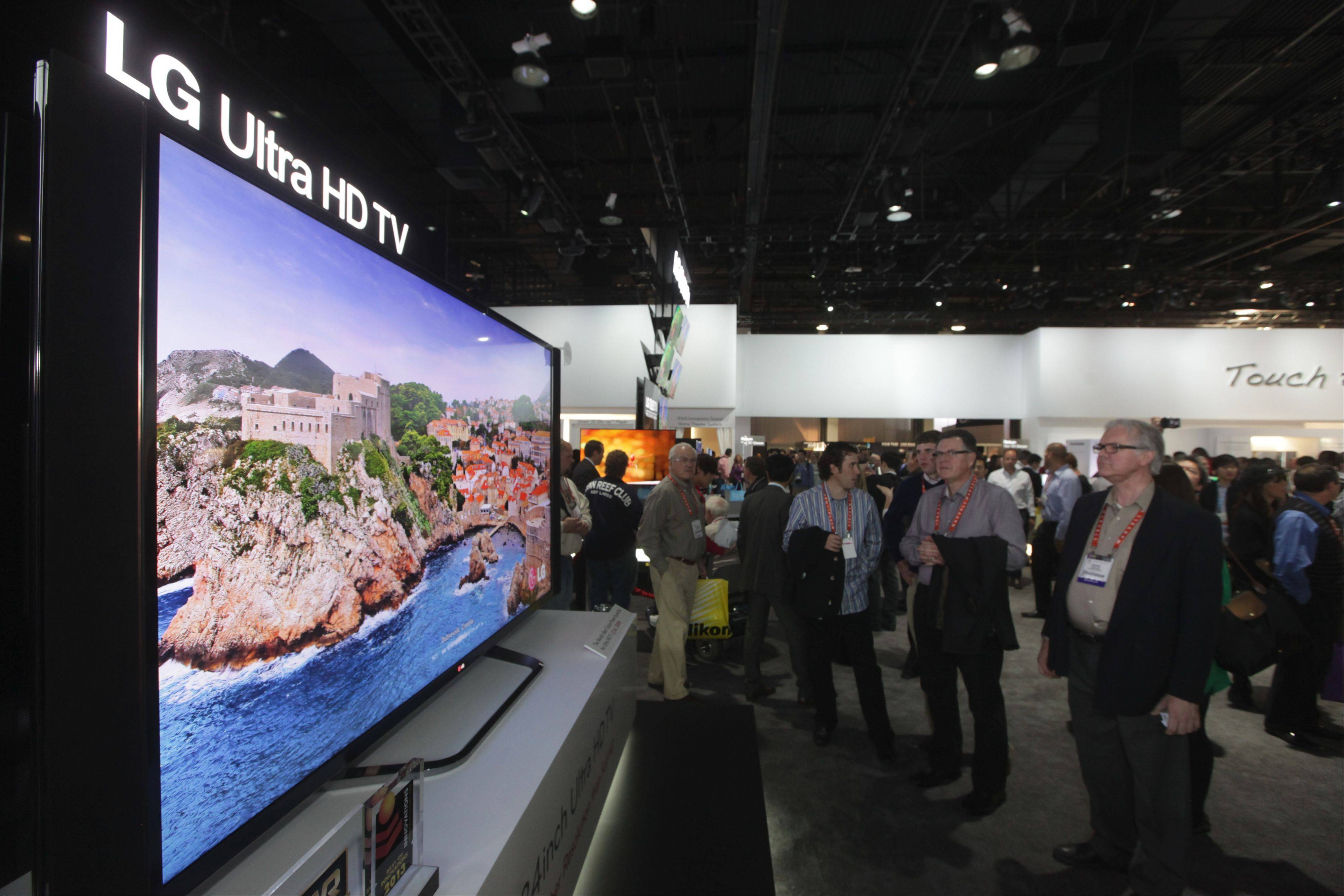 The new LG Ultra HD TV with an 84-inch screen won an award at the recent Consumer Electronics Show in Las Vegas and is now being sold exclusively at Abt.