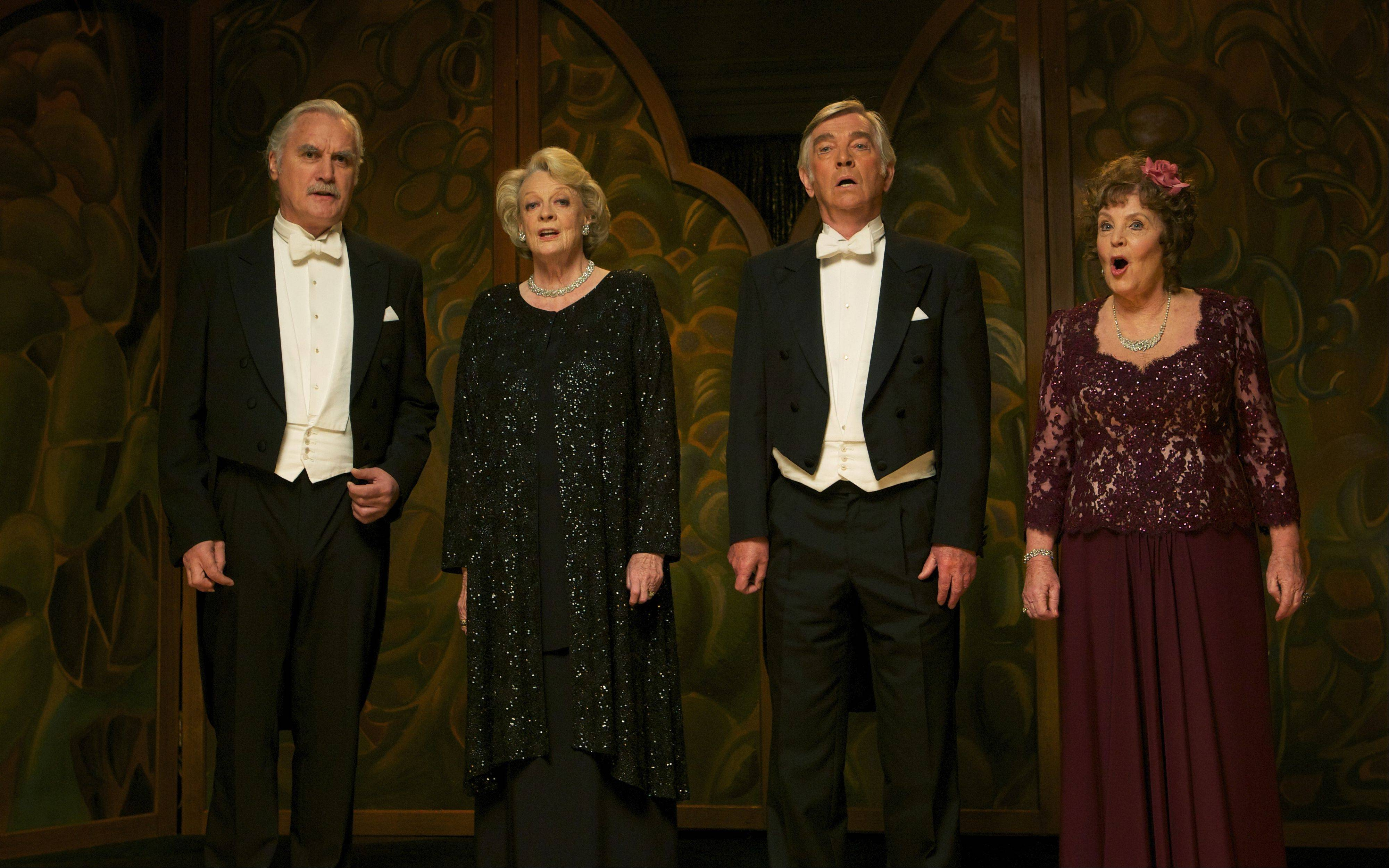 "Billy Connolly, Maggie Smith, Tom Courtenay and Pauline Collins star as residents in a musician's retirement home in Dustin Hoffman's directorial debut ""Quartet."""