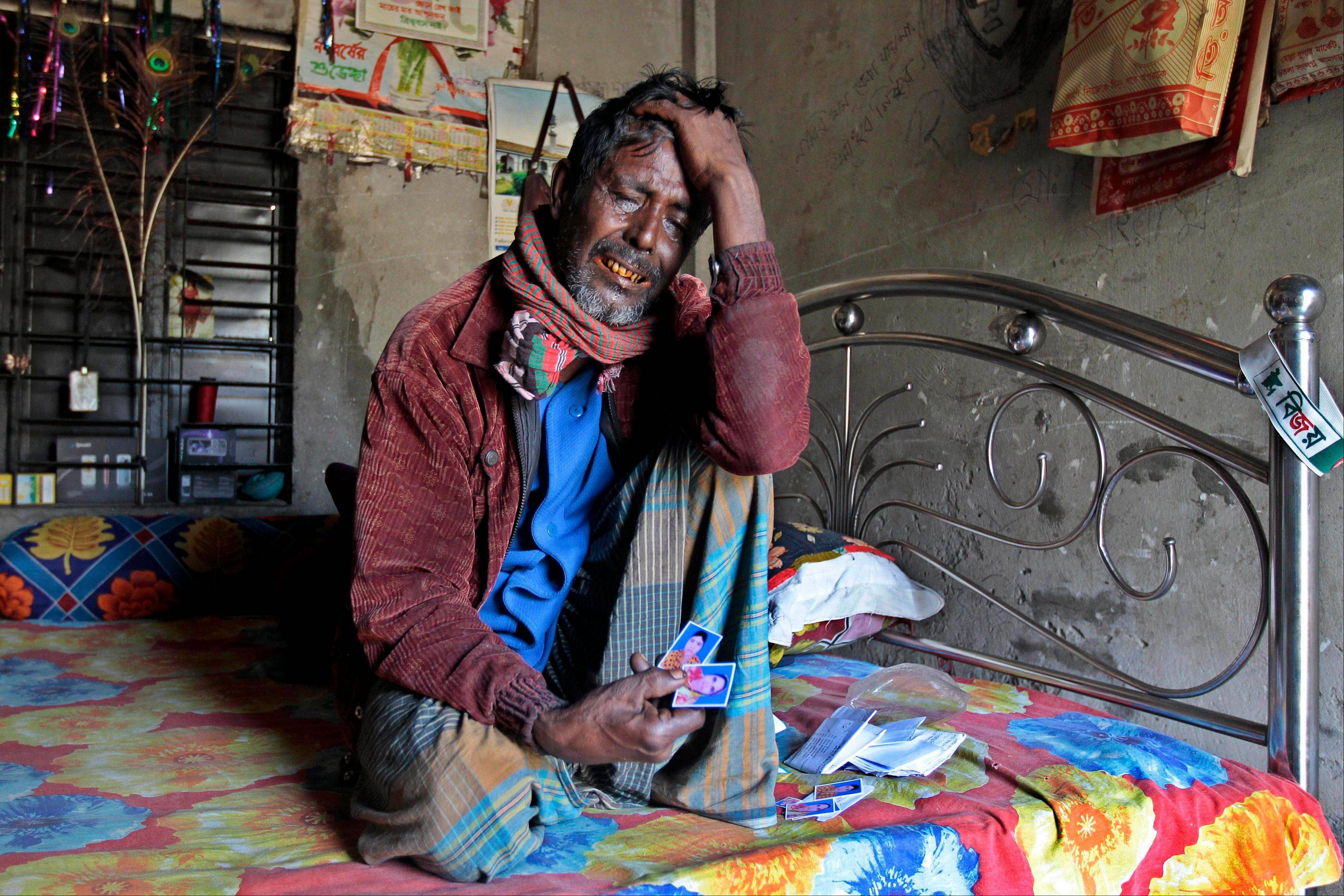 Two months after his wife and daughter were killed in a fire at the Bangladeshi garment factory, 55-year-old Ansar is scrambling to survive. Ansar has been unable to pay his rent for two months and fears that if he gets evicted and is forced to return to his home village in the impoverished north, he may never be compensated.