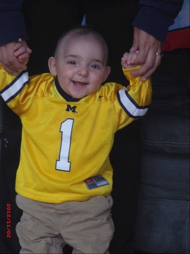 Matthew Erickson, who recently celebrated his first birthday, will be �adopted� by the Elgin Community College men�s basketball team on Saturday. Matthew suffers from a rare form of brain cancer rarely found in infants.
