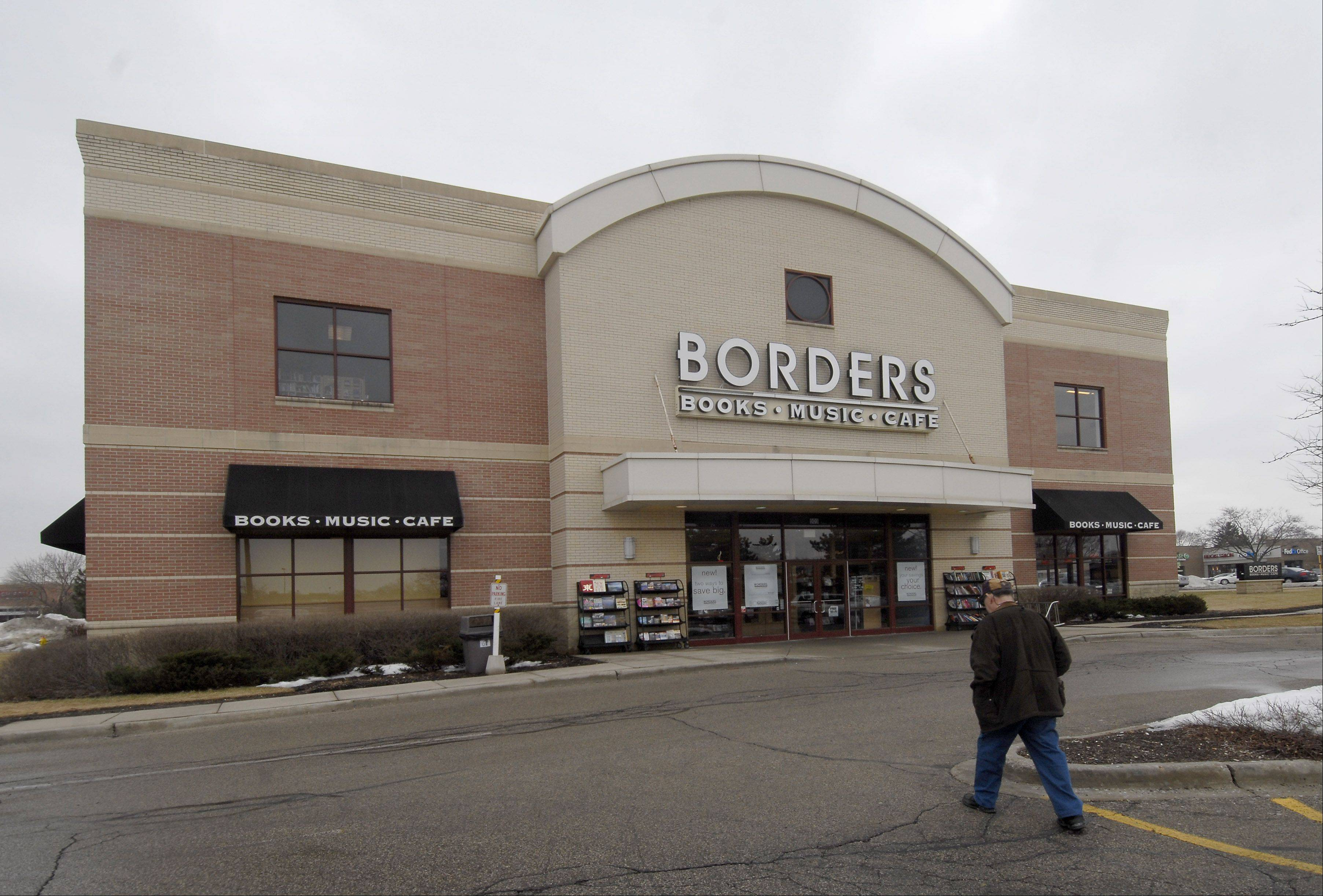 The Borders building in Mount Prospect, pictured here right before the store closed in 2011, will soon be torn down to make way for smaller retail buildings. Village officials expect the demolition to be complete next month.