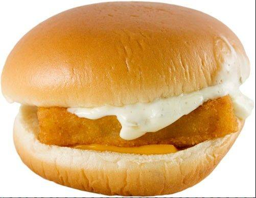 "A blue ""ecolabel"" from the Marine Stewardship Council certifies that the Alaskan Pollack used in Oak Brook-based McDonald's Filet-O-Fish sandwiches come from suppliers with sustainable fishing practices."