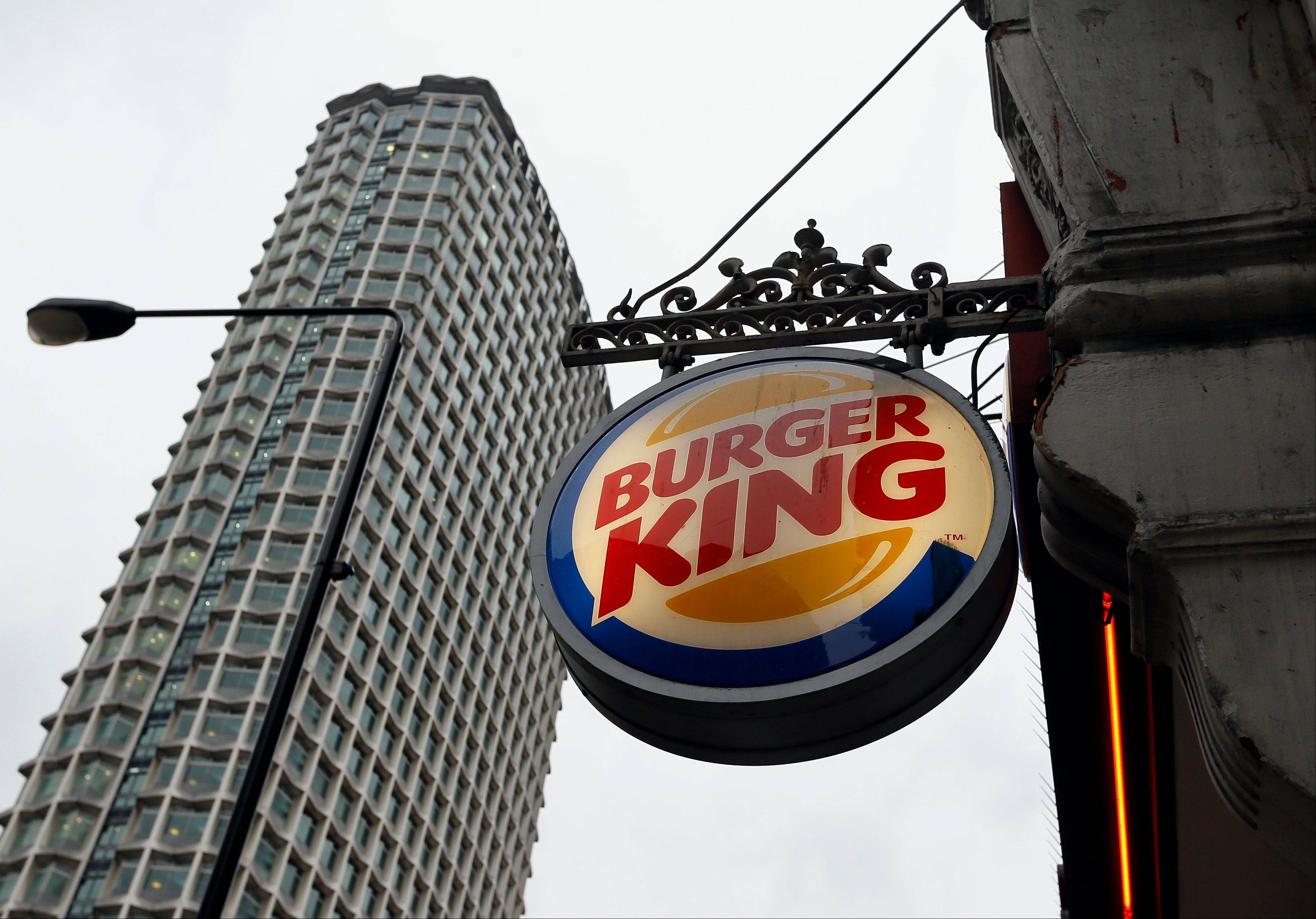 A sign hangs at a branch of Burger King in central London, Thursday, Jan. 24, 2013. Burger King says it has stopped buying beef from an Irish supplier whose patties in Britain and Ireland were found to contain traces of horsemeat.