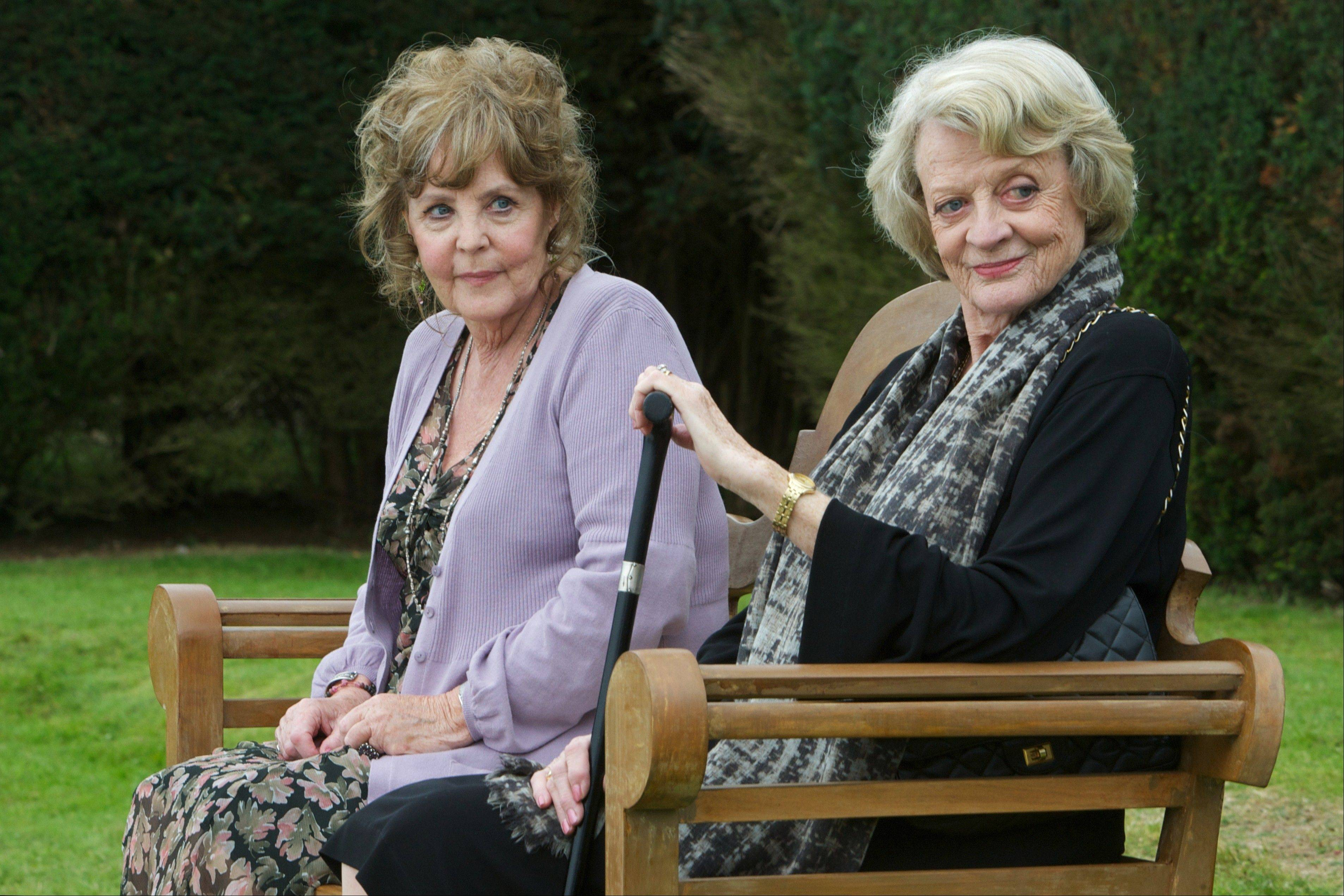 "Maggie Smith, right, and Pauline Collins star as residents in a musician's retirement home in Dustin Hoffman's directorial debut ""Quartet."""