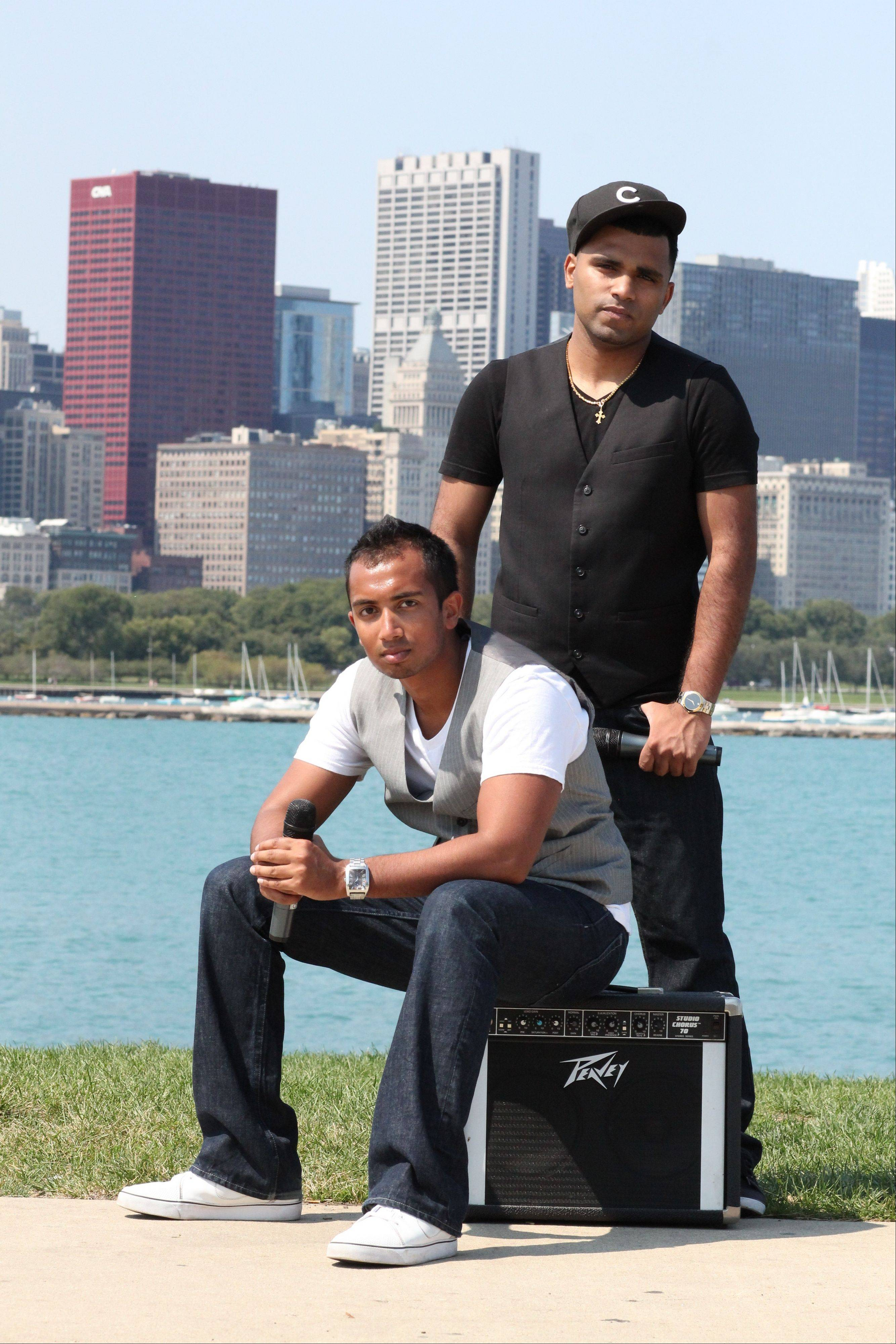 "Shawn Kurian, left, and Sanu John make up the beat-boxing duo iLLest Vocals. As the winners of the 2012 Suburban Chicago's Got Talent competition, iLLest Vocals have a guaranteed audition time with NBC's ""America's Got Talent."""