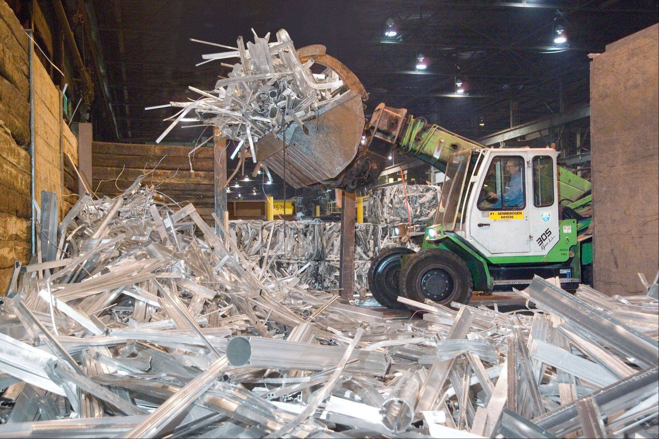 One of the advantages of aluminum is that all this scrap is being recycled in a Pennsylvania plant run by Sapa Extrusions, which is headquartered in Rosemont.