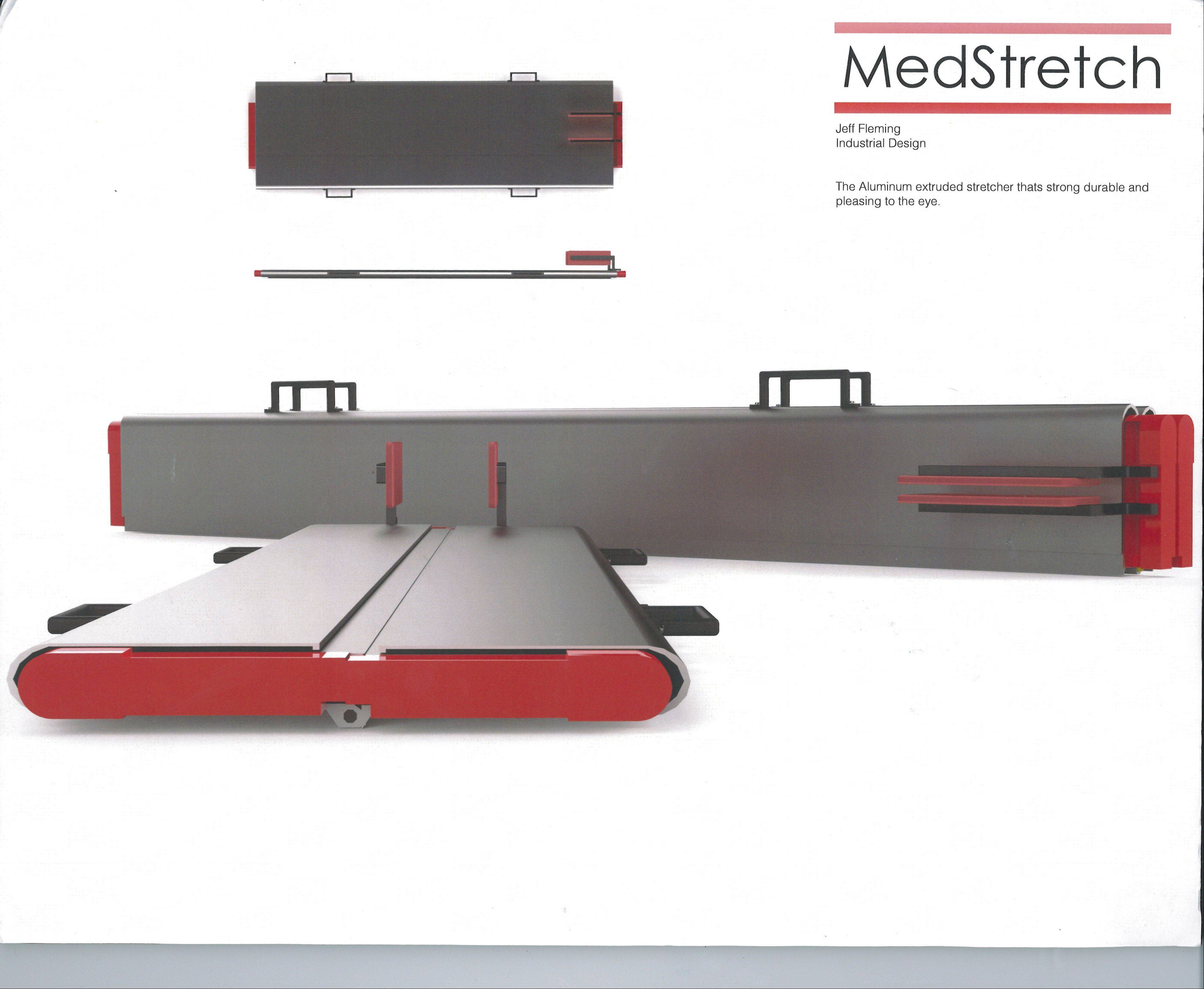 The winner of the Wauconda-based 2012 International Aluminum Extrusion Design Competition, this folding stretcher was designed by a college student.