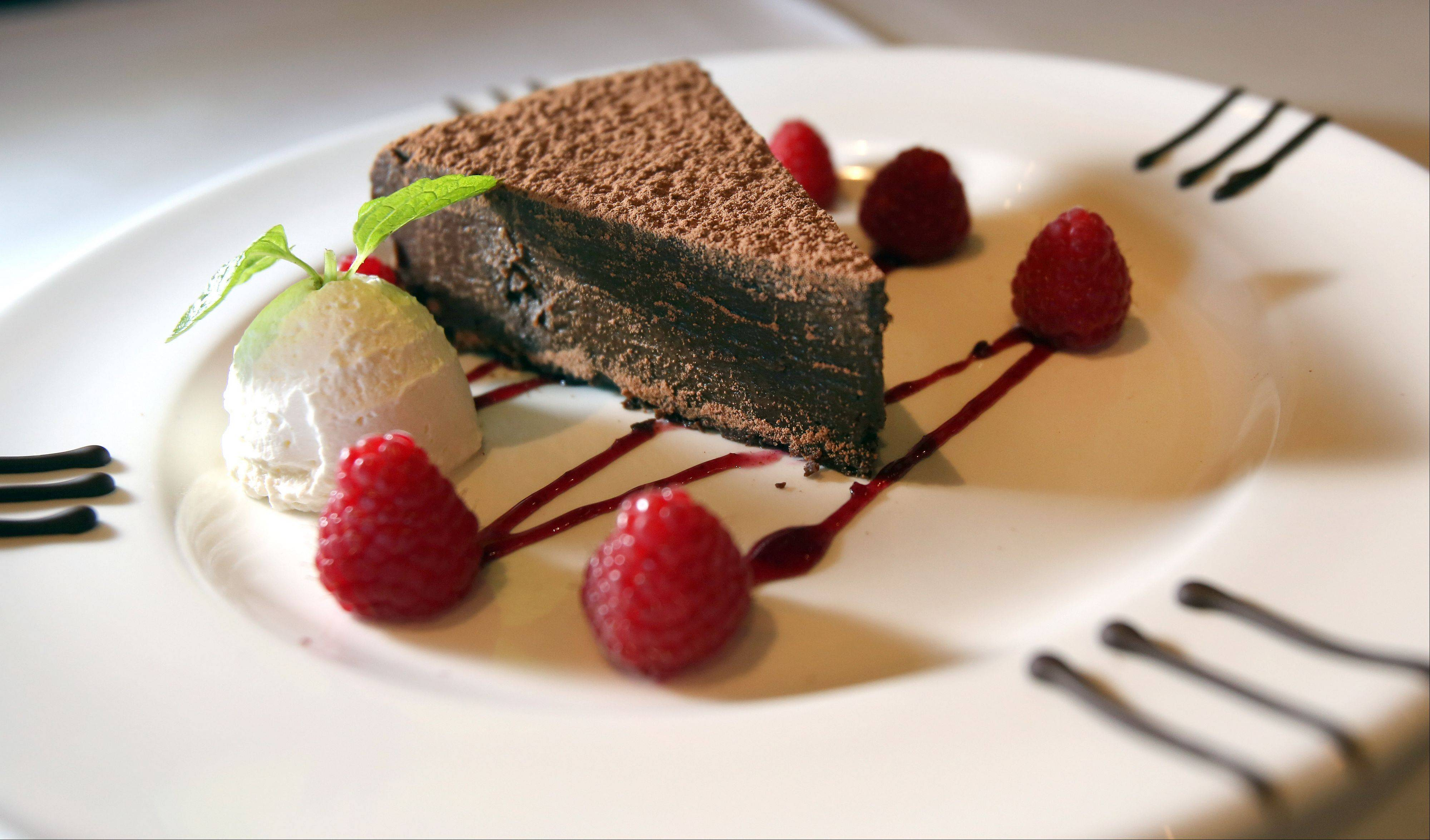 Flourless chocolate cake is a tempting ending at The Capital Grille in Lombard during Chicago Restaurant Week.