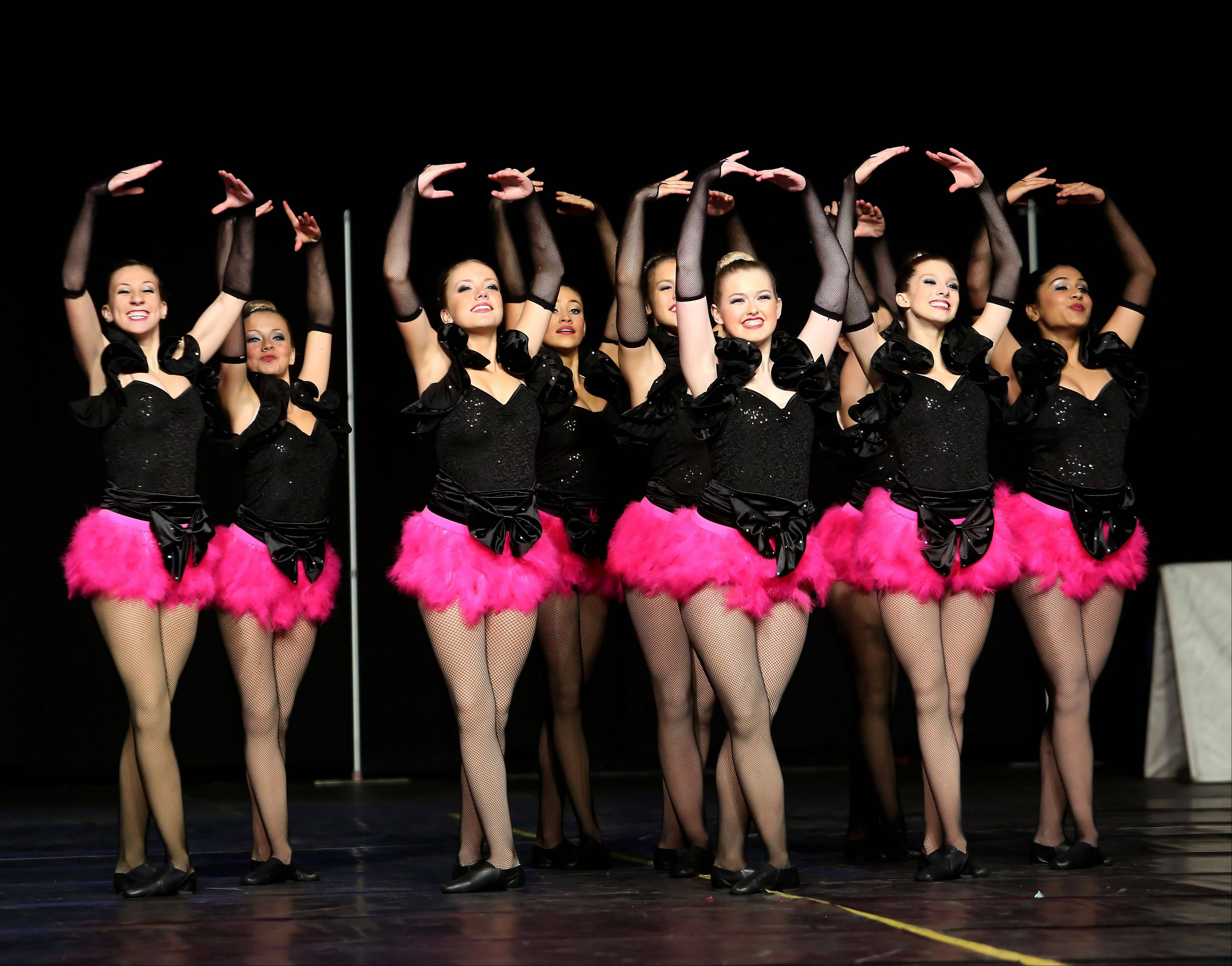 Waubonsie Valley High School performs in the 3A division of the Competitive Dance State Preliminaries on Friday in Bloomington.
