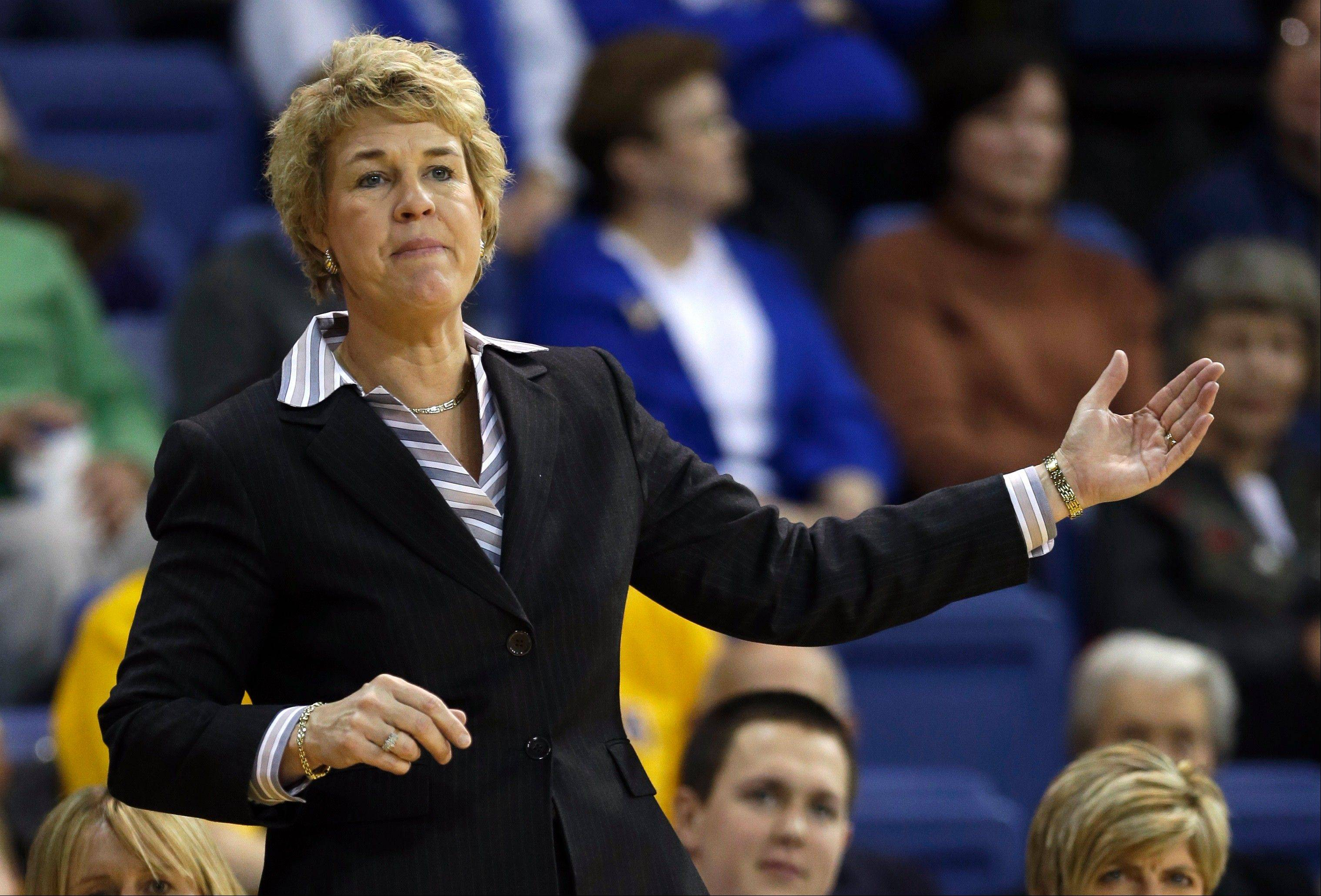 Head basketball coach Lisa Bluder, now in her 13th season at Iowa and 29th overall, picked up her 600th career win Saturday when the Hawkeyes upset No. 11 Purdue.